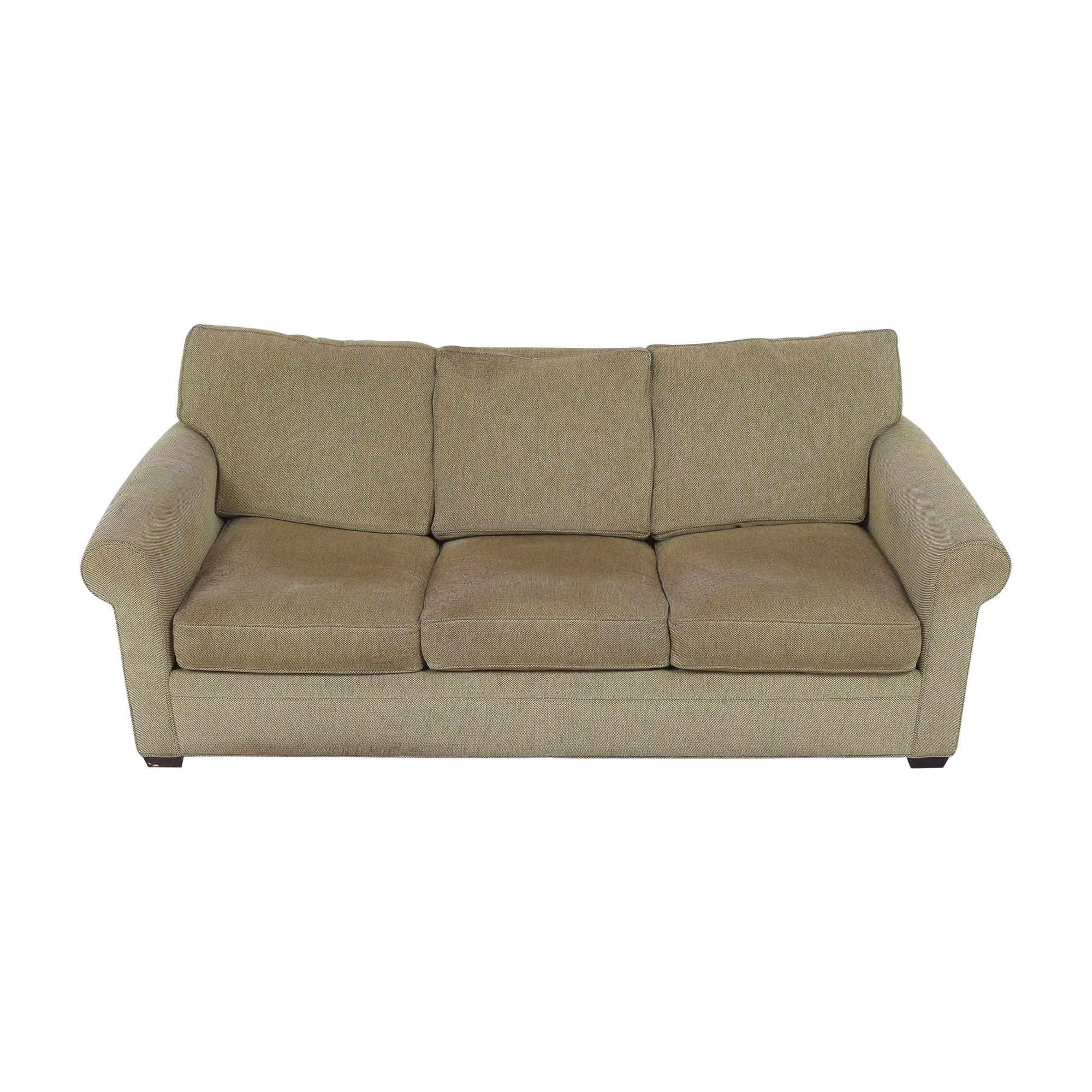 buy Crate & Barrel Three Cushion Sleeper Sofa Crate & Barrel