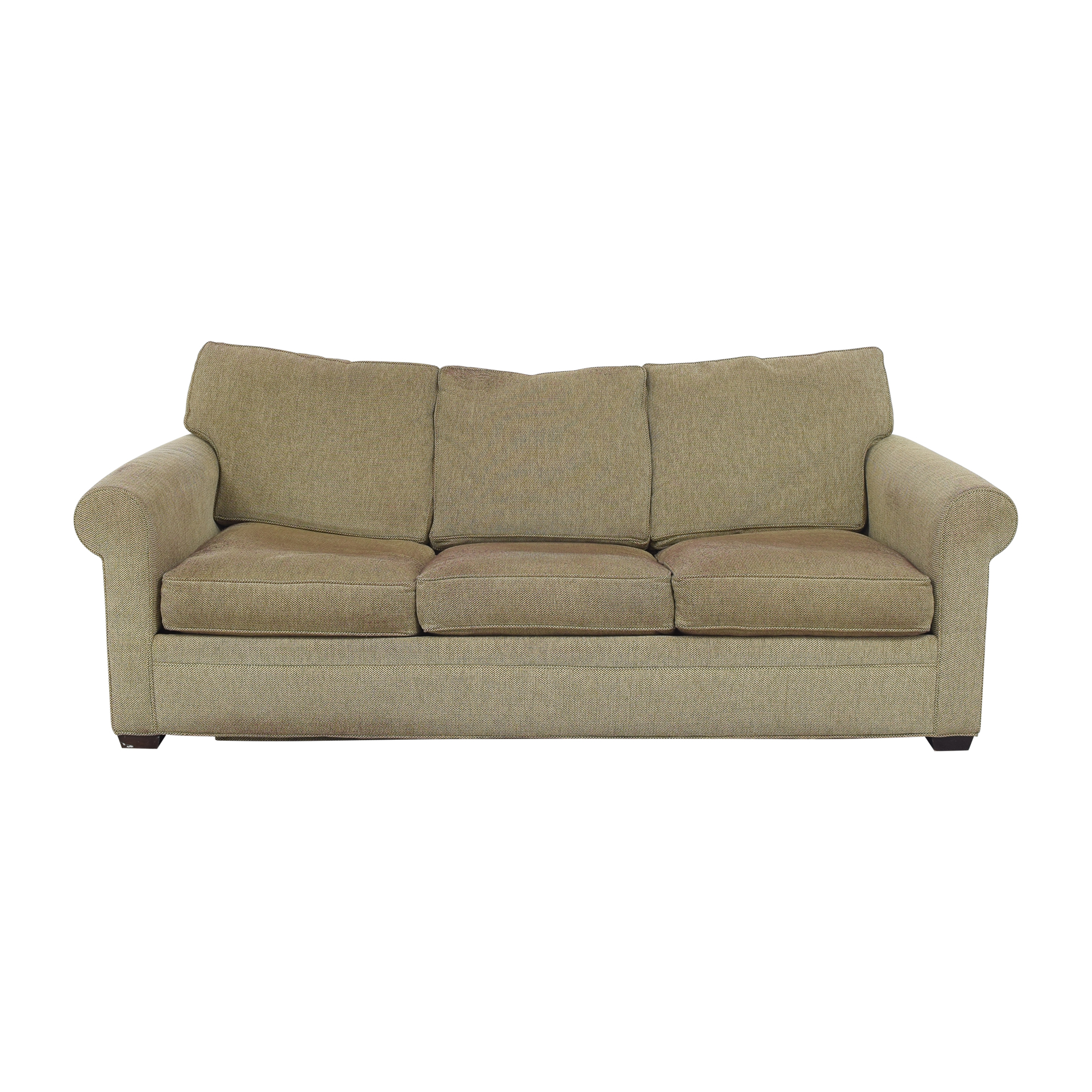 Crate & Barrel Crate & Barrel Three Cushion Sleeper Sofa for sale