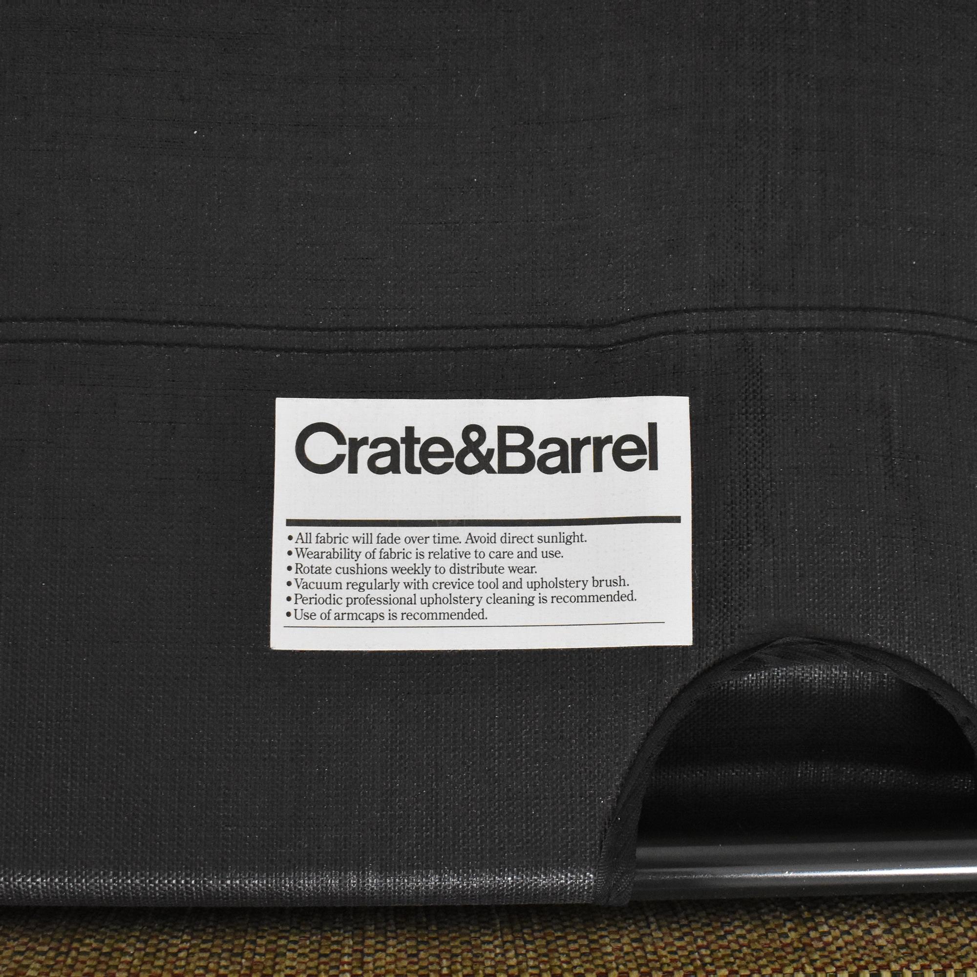 Crate & Barrel Crate & Barrel Three Cushion Sleeper Sofa dimensions