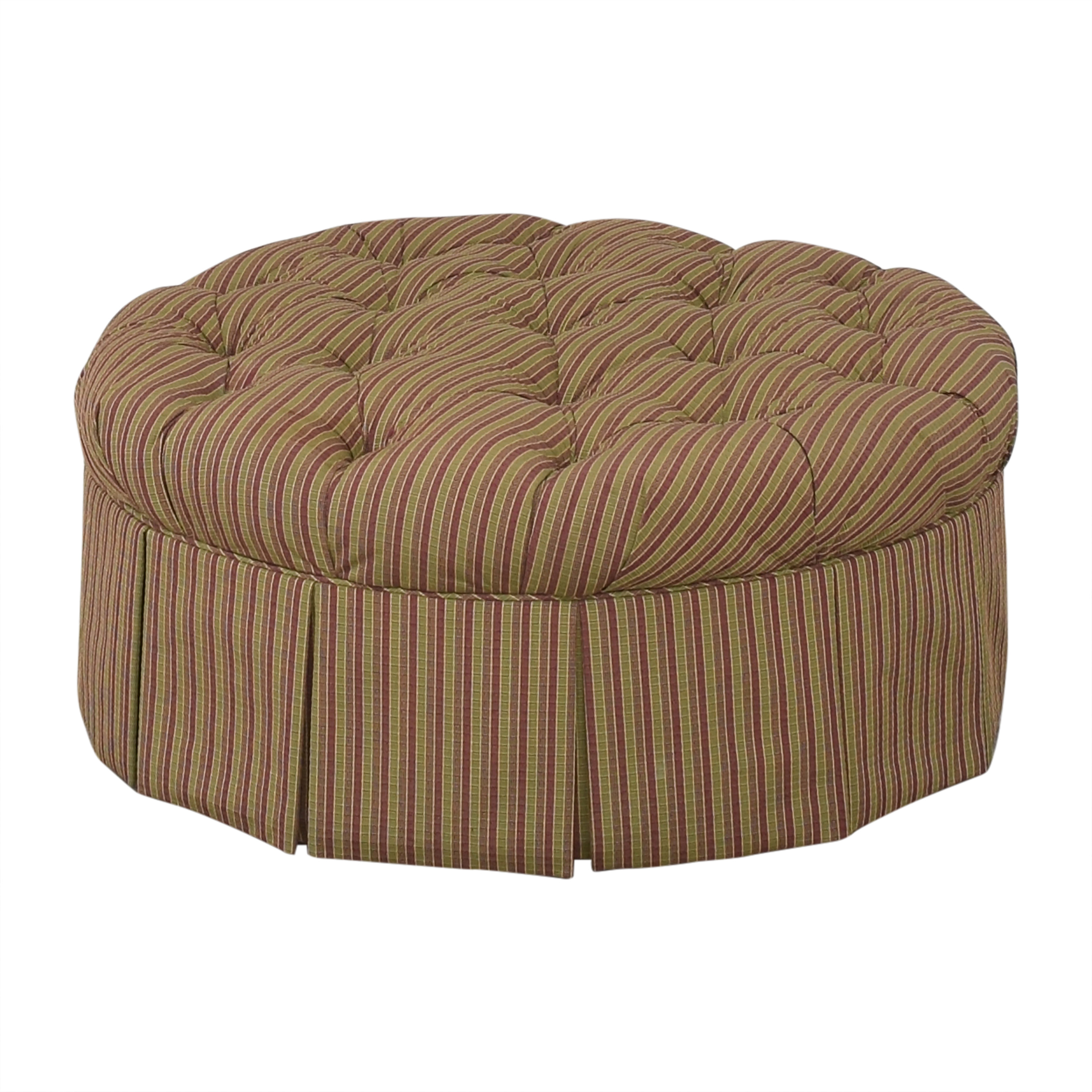 Domain Home Domain Home Round Tufted Ottoman nyc