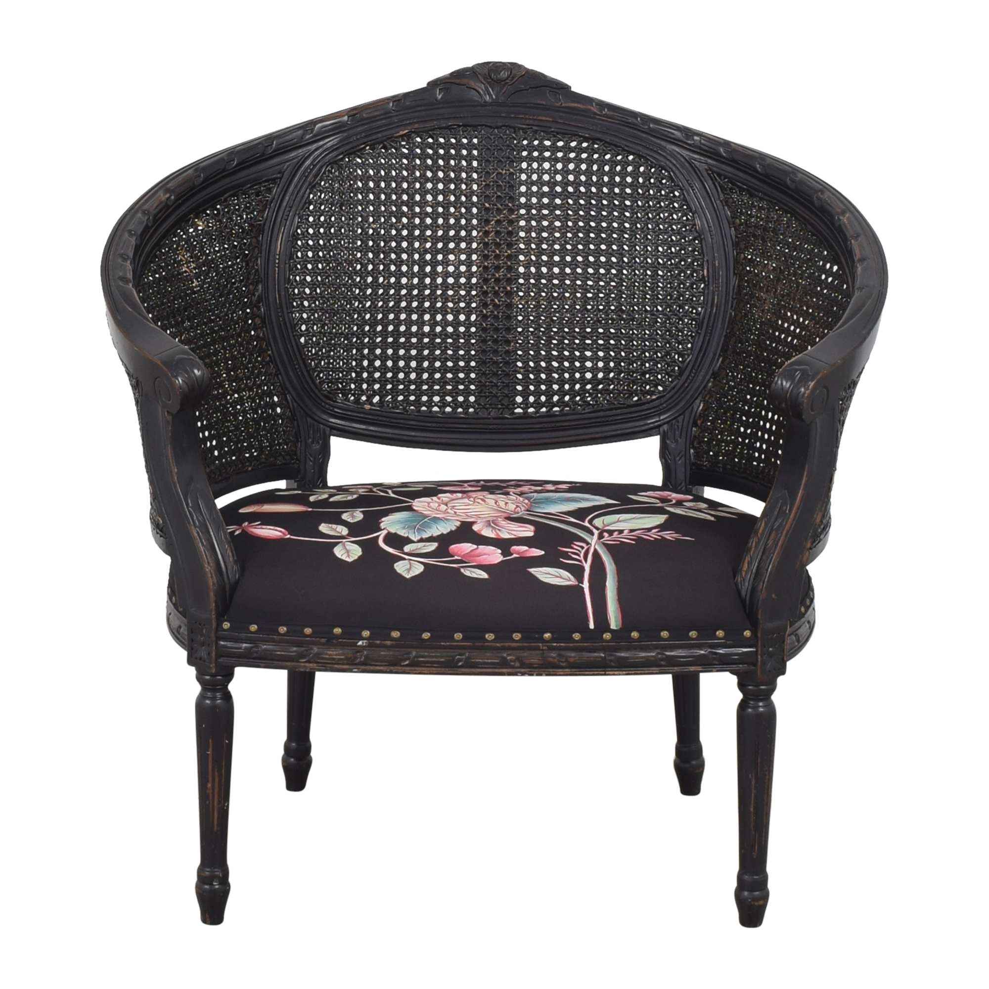 buy  Woven Accent Chair with Floral Upholstery online