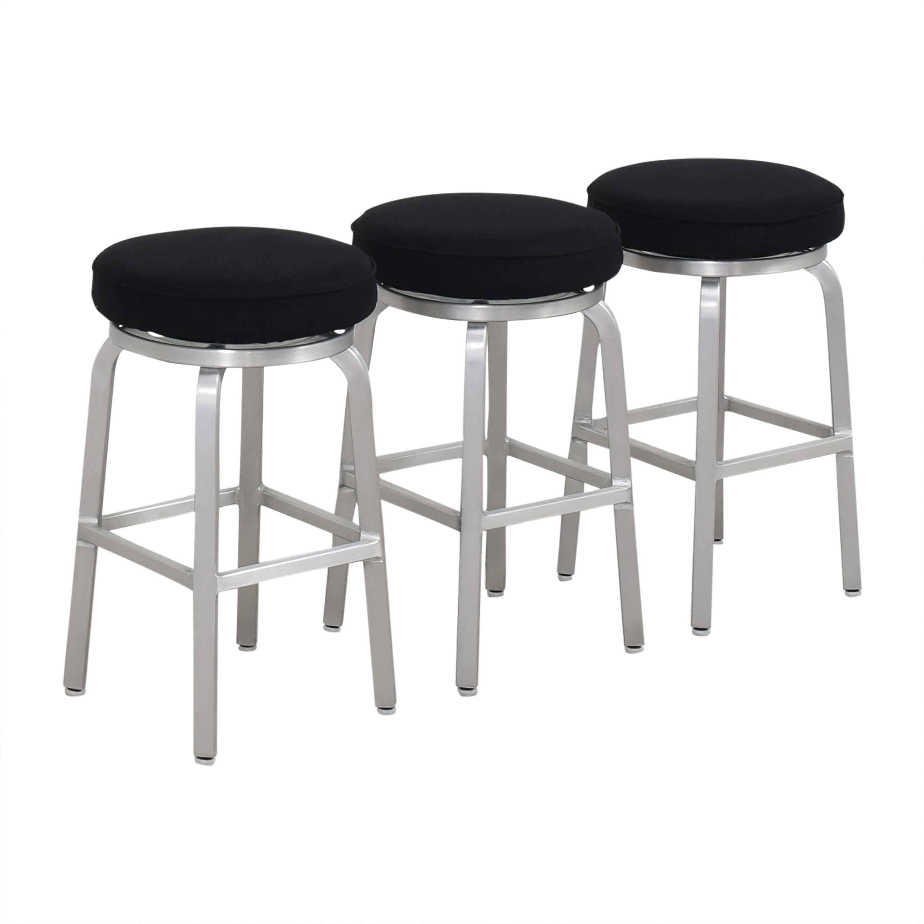 Crate & Barrel Crate & Barrel Spin Swivel Backless Counter Stools