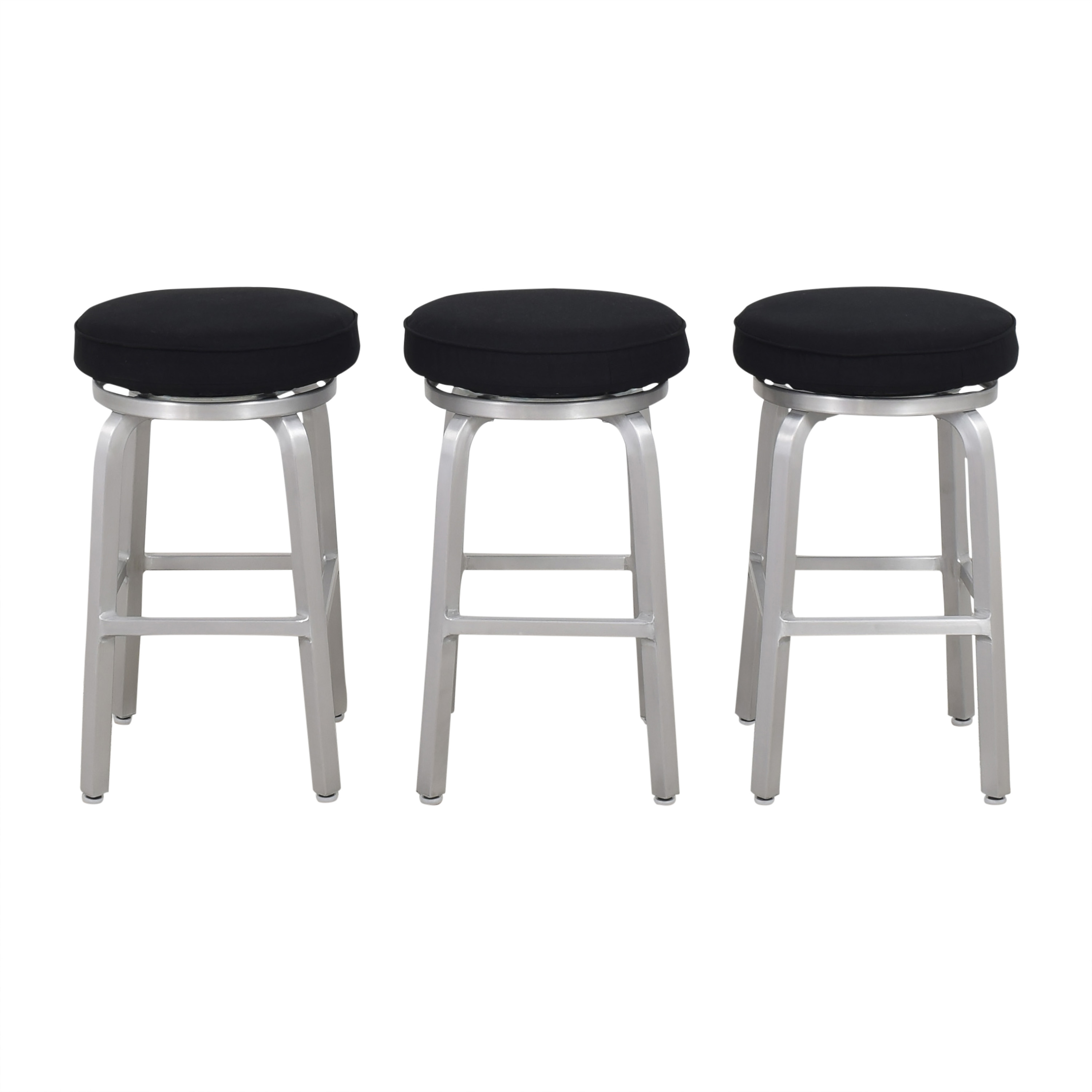 Crate & Barrel Crate & Barrel Spin Swivel Backless Counter Stools dimensions
