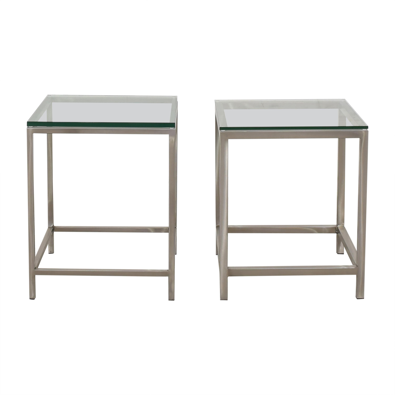 Crate & Barrel Era Side Tables Crate & Barrel