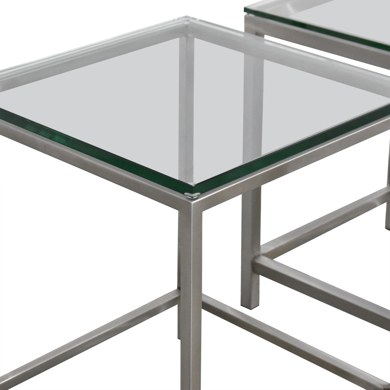 Crate & Barrel Crate & Barrel Era Side Tables silver