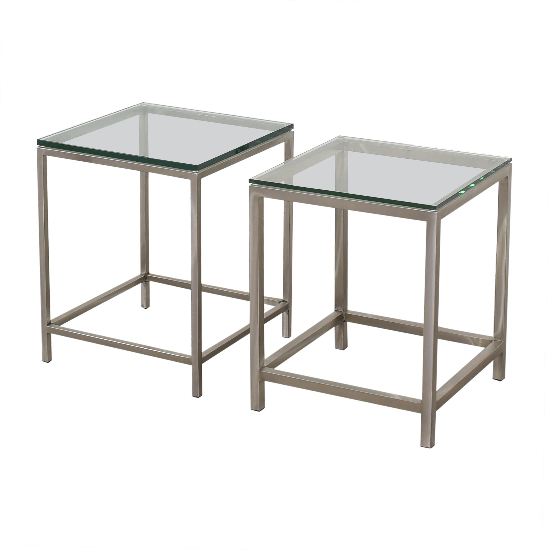 Crate & Barrel Crate & Barrel Era Side Tables dimensions