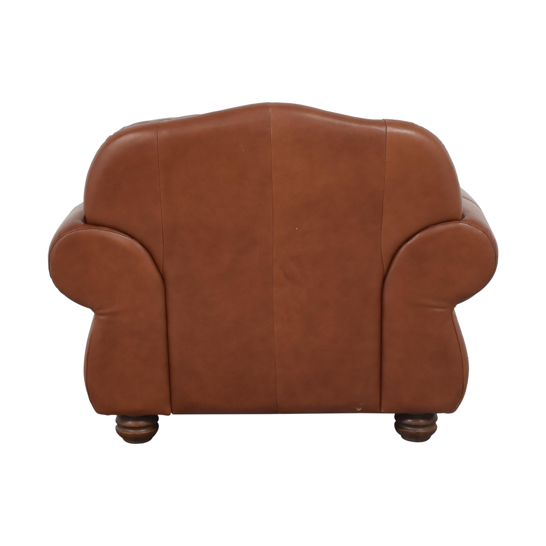 shop Chateau d'Ax Roll Arm Nailhead Club Chair with Ottoman Chateau d'Ax