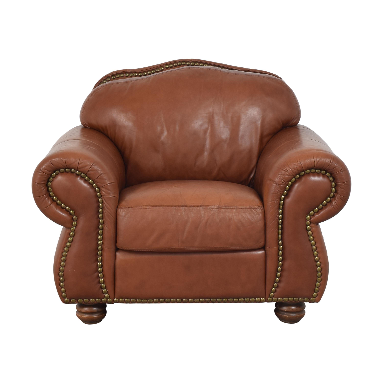 buy Chateau d'Ax Roll Arm Nailhead Club Chair with Ottoman Chateau d'Ax