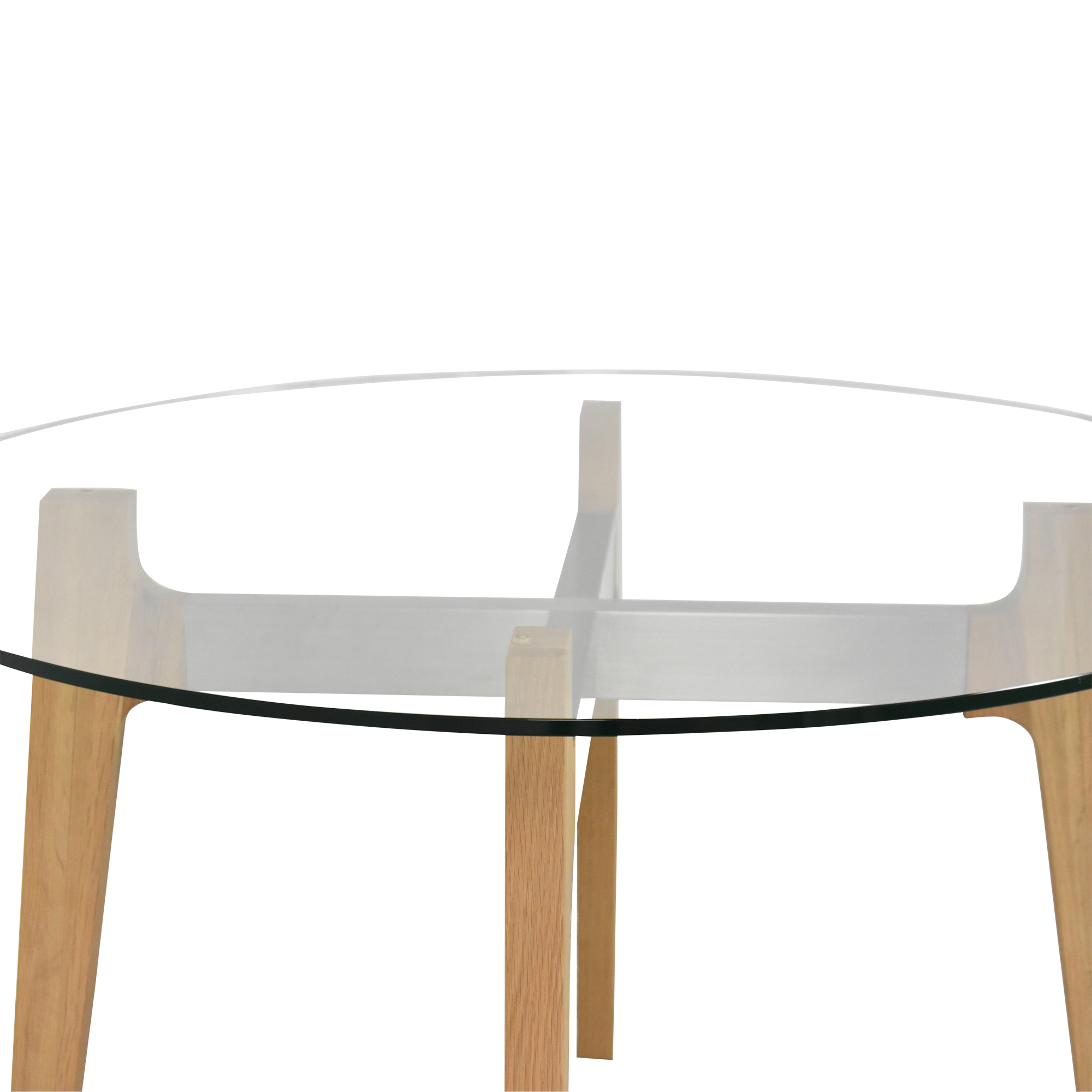 CB2 CB2 Brace Round Dining Table Tables