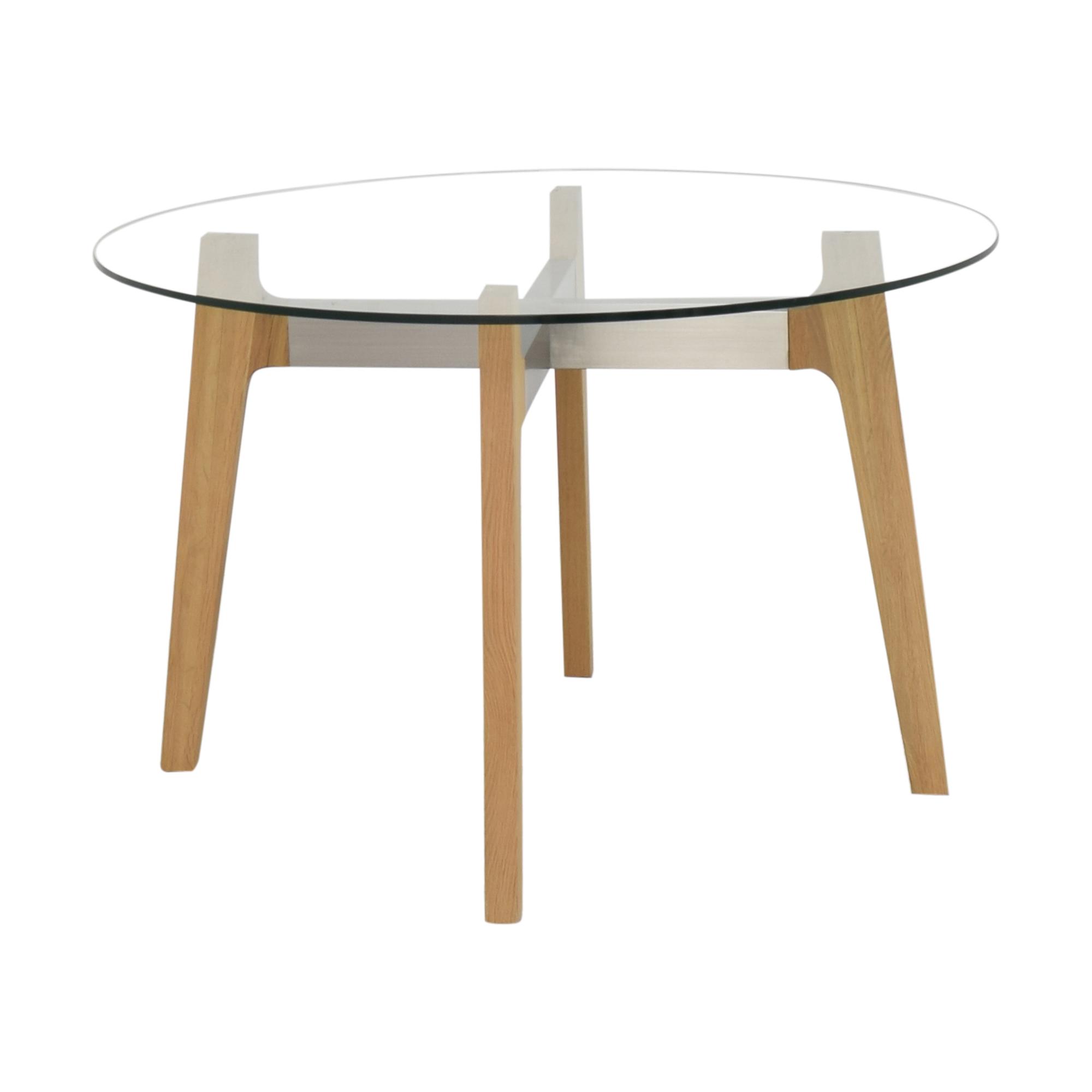 buy CB2 Brace Round Dining Table CB2 Dinner Tables