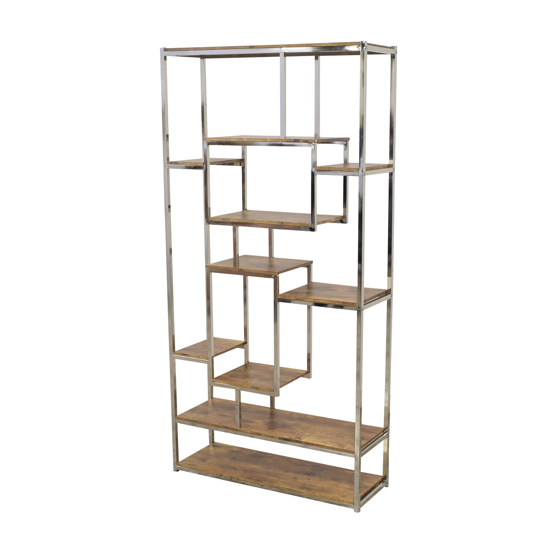 buy Wayfair MErcury Row Clements Geometric Bookcase Wayfair