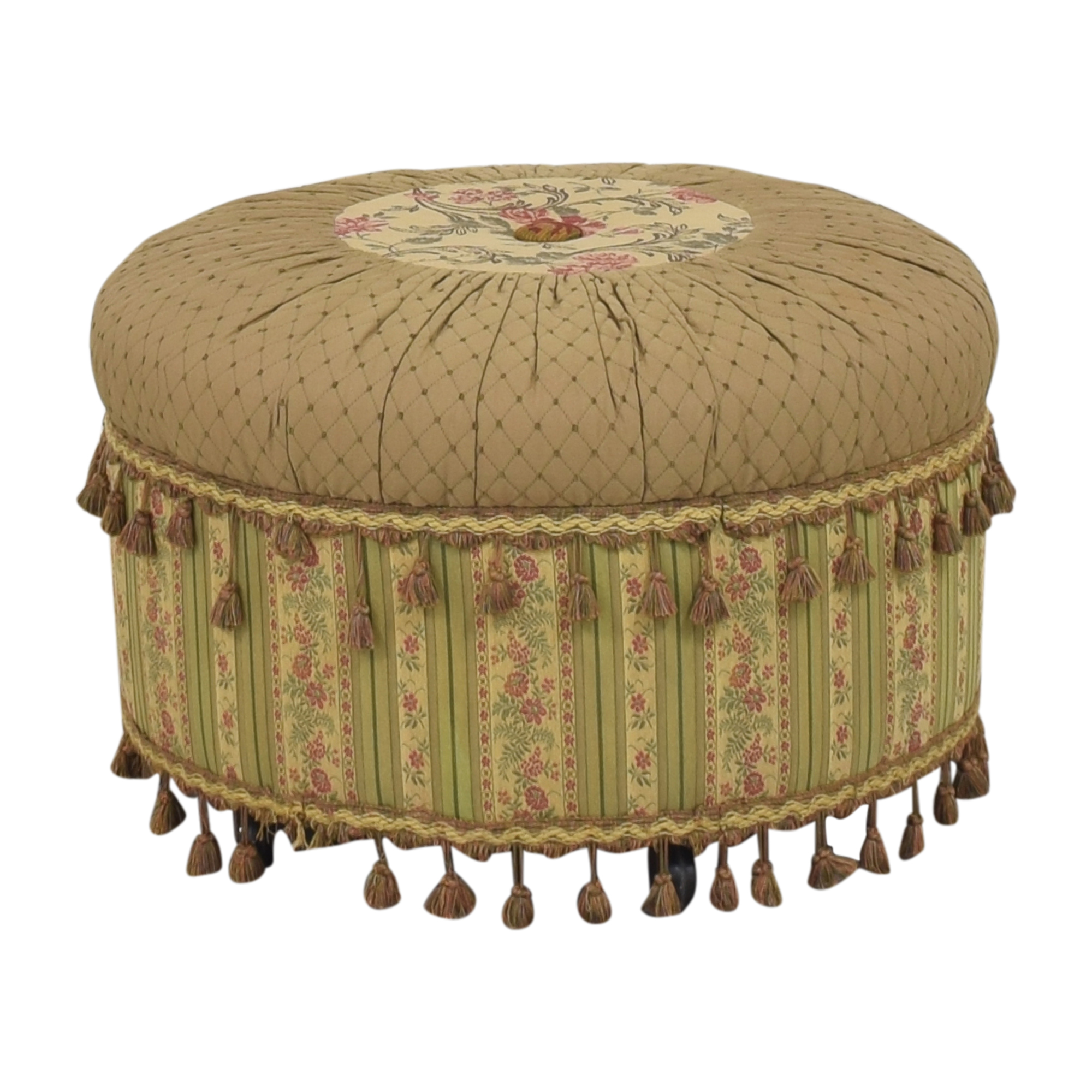 Domain Domain Rolling Fringed Ottoman used