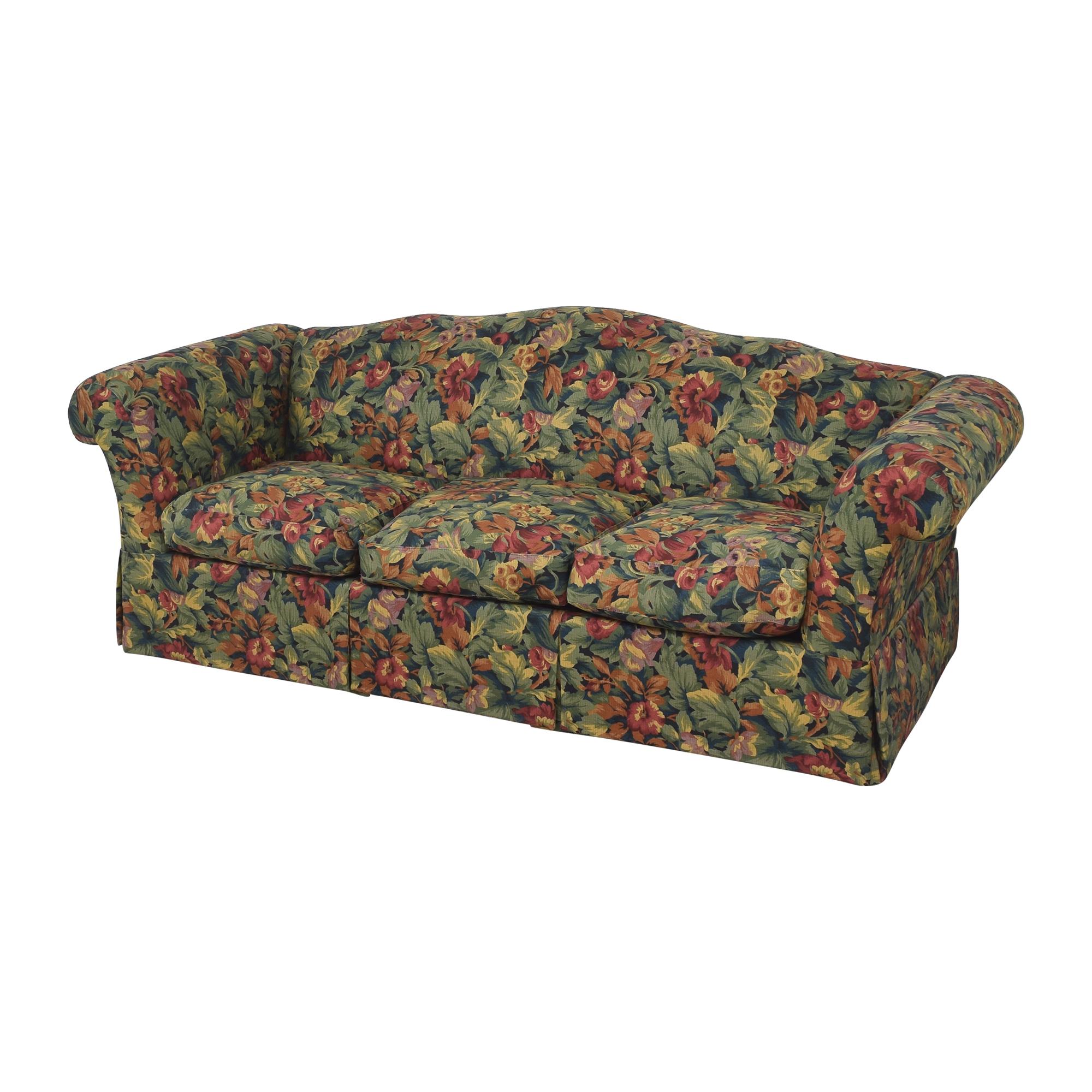 Floral Three Cushion Sofa