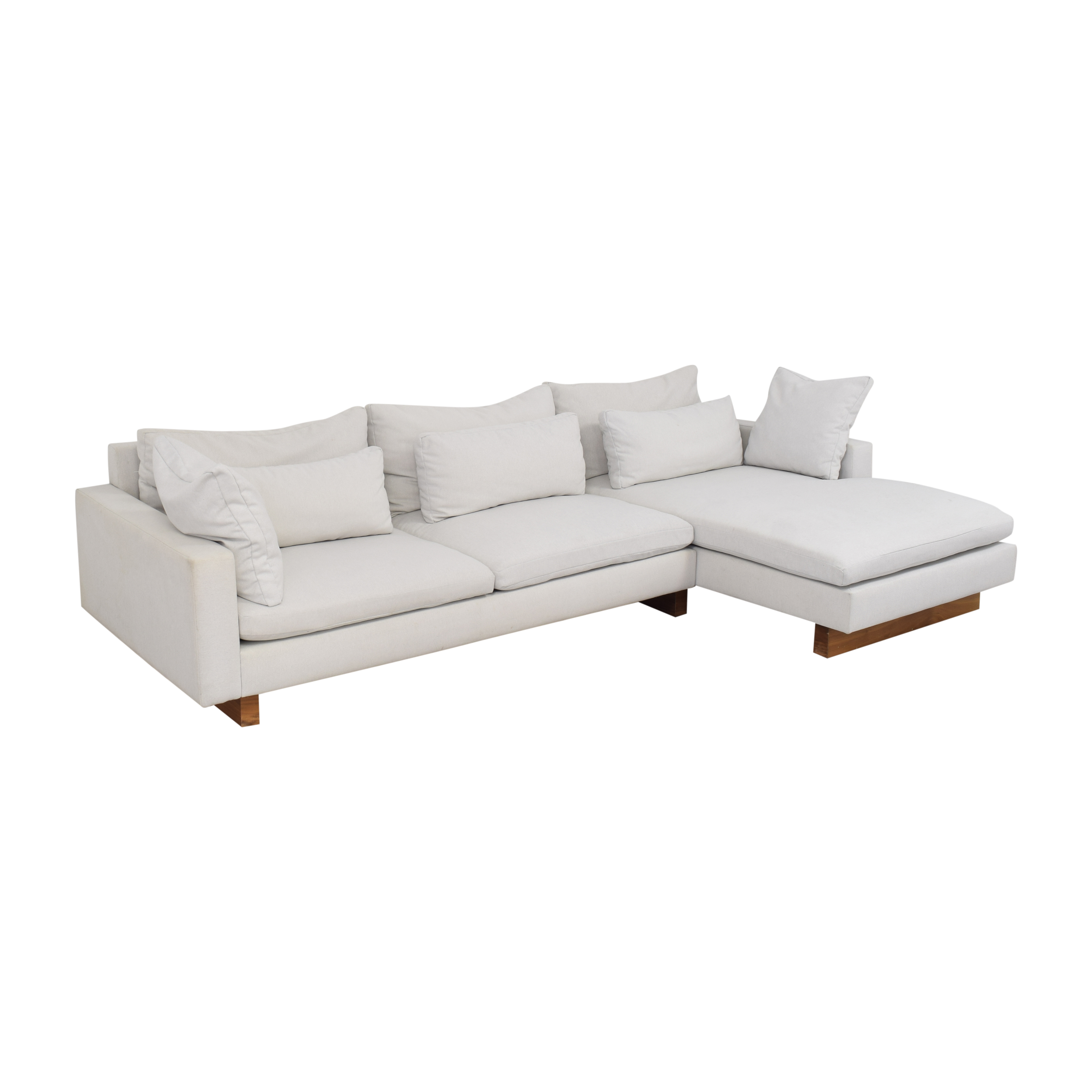 buy West Elm Harmony Two Piece Chaise Sectional West Elm Sectionals