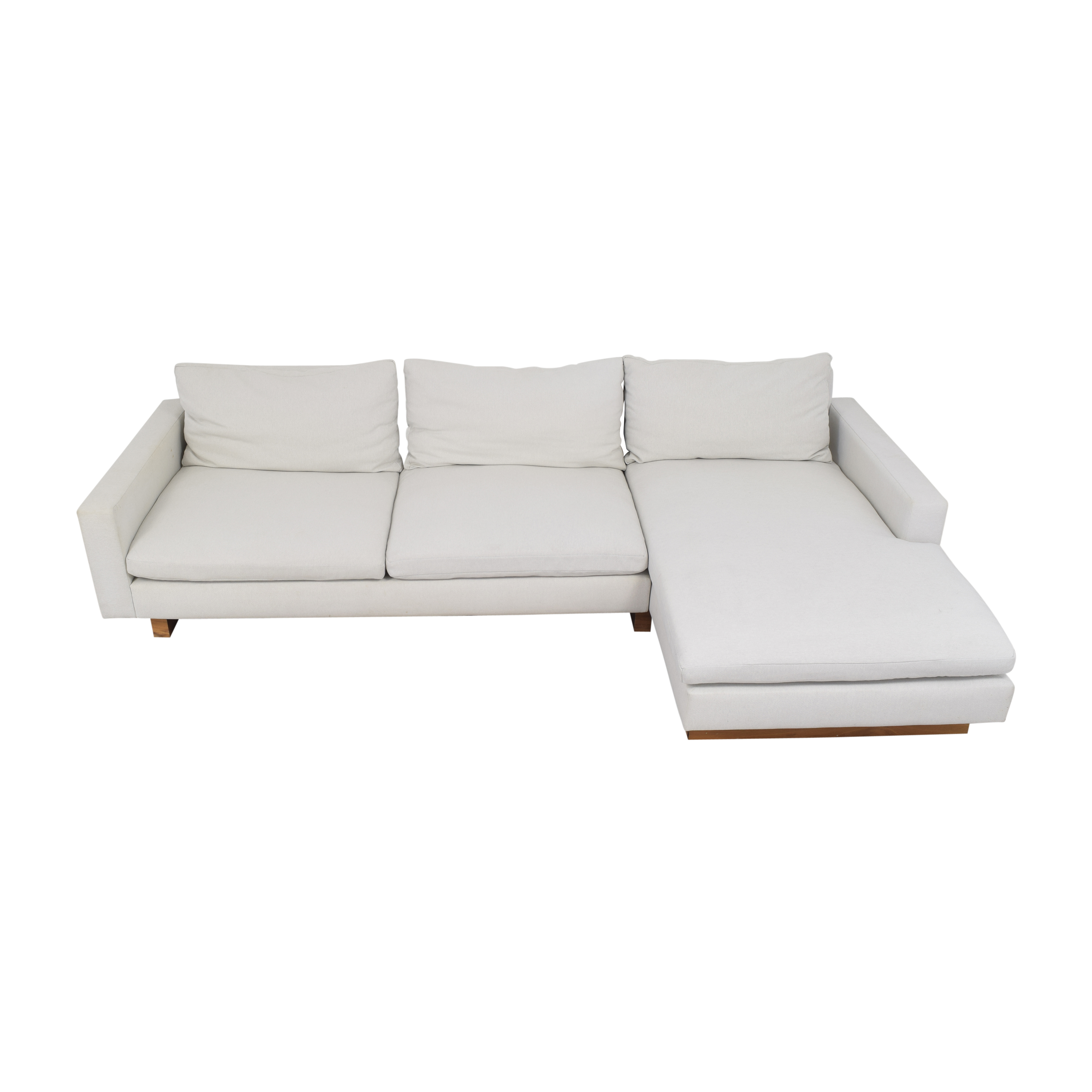 buy West Elm West Elm Harmony Two Piece Chaise Sectional online