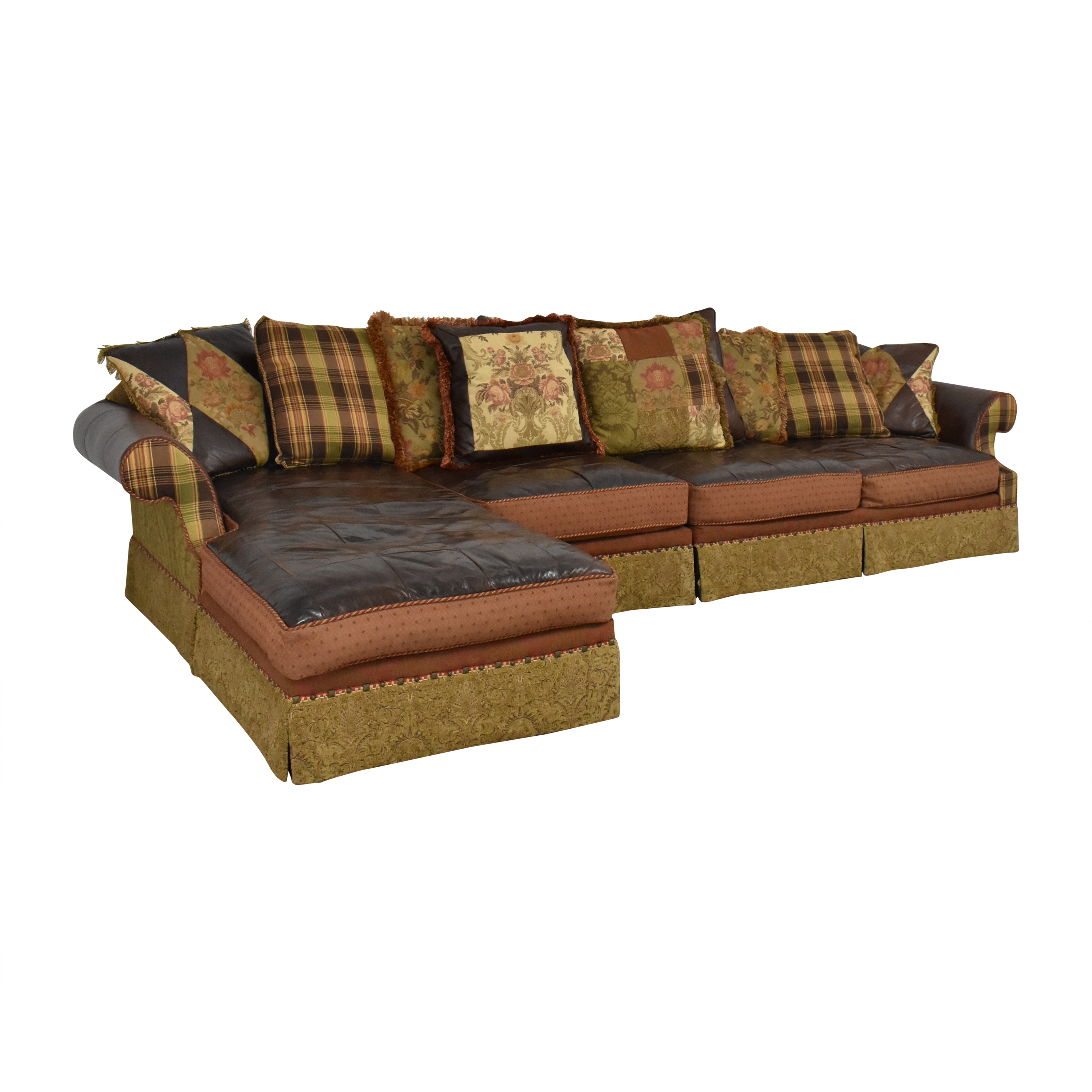 Key City Furniture Key City Jeff Zimmerman Collection Mixed Media Sectional used