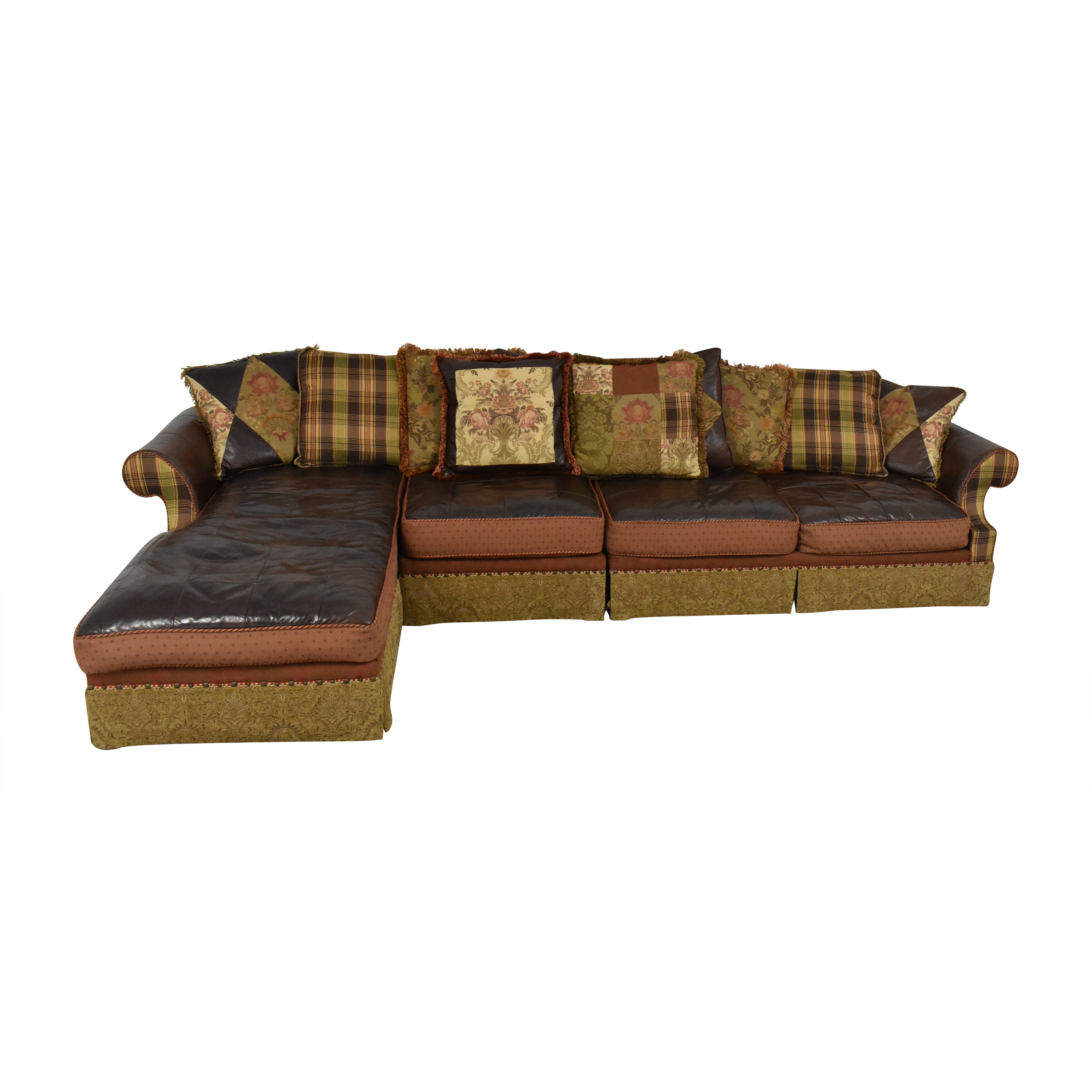 buy Key City Jeff Zimmerman Collection Mixed Media Sectional Key City Furniture Sectionals