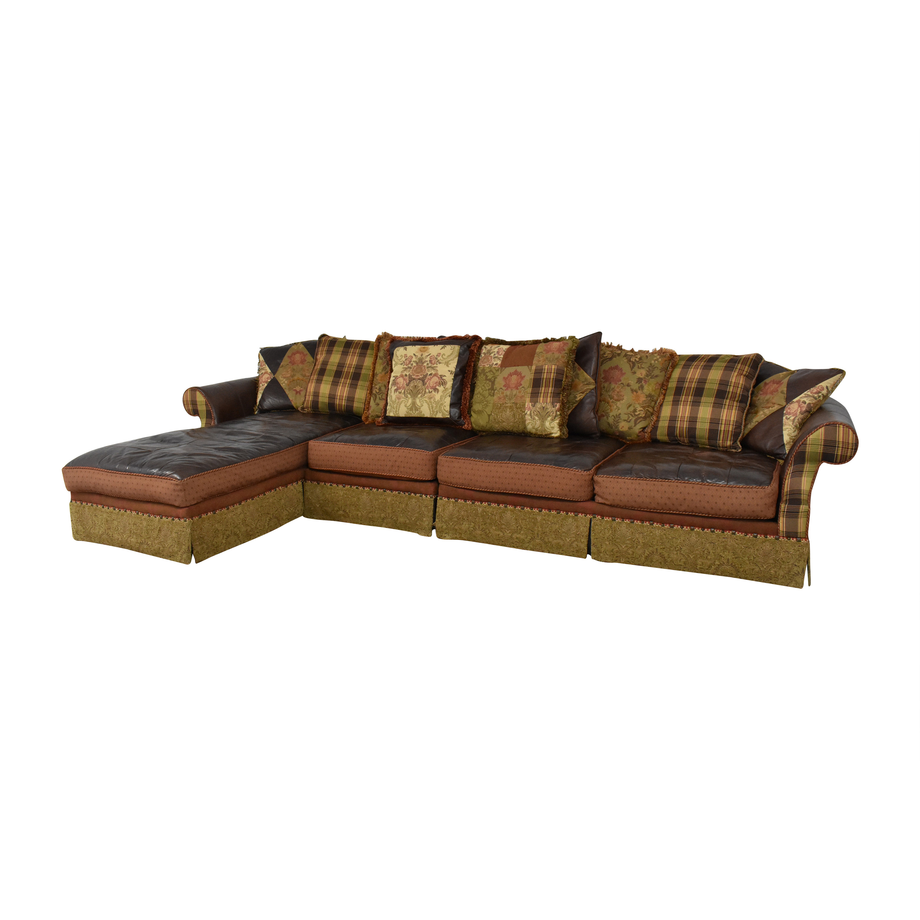 Key City Furniture Key City Jeff Zimmerman Collection Mixed Media Sectional