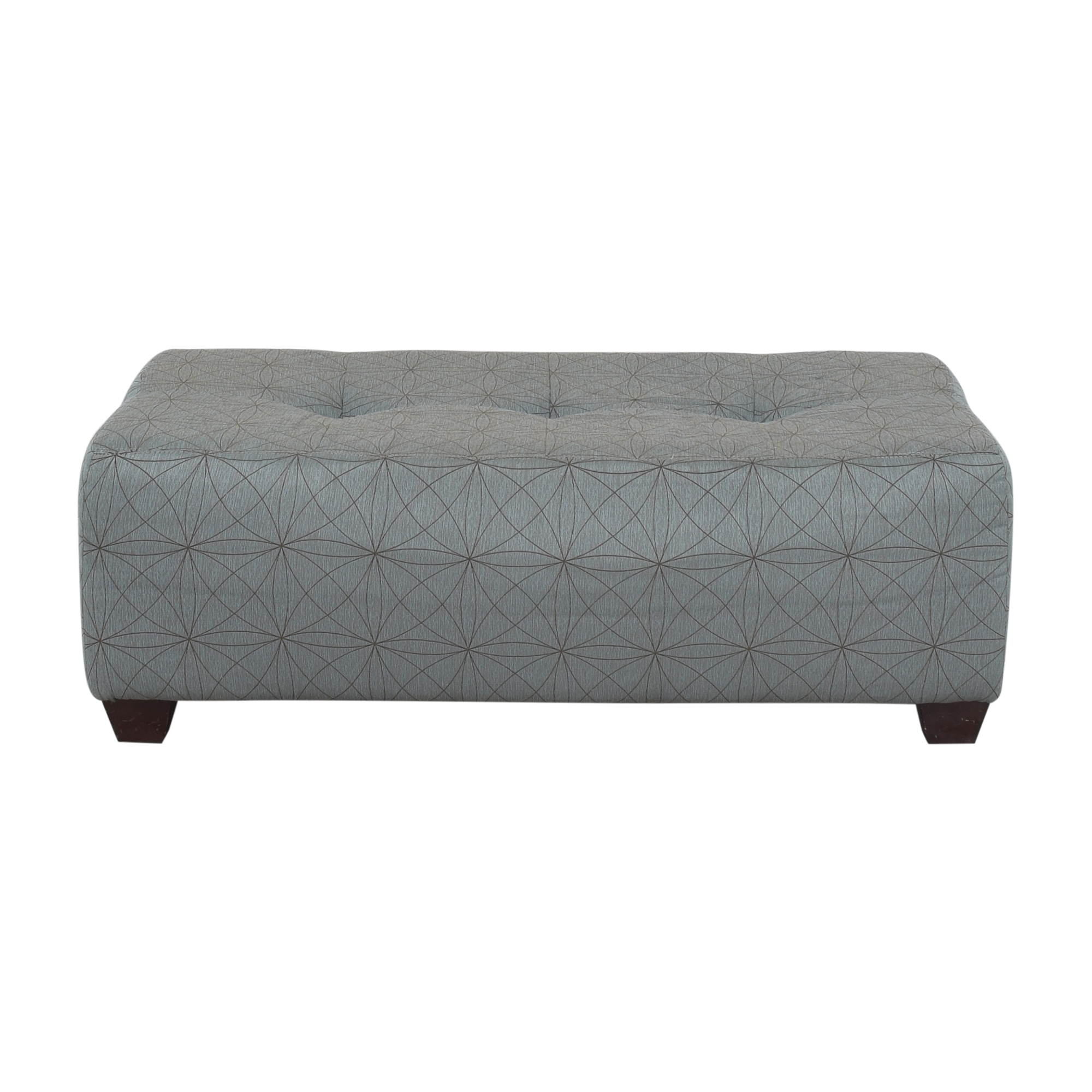 Patterned Tufted Ottoman discount