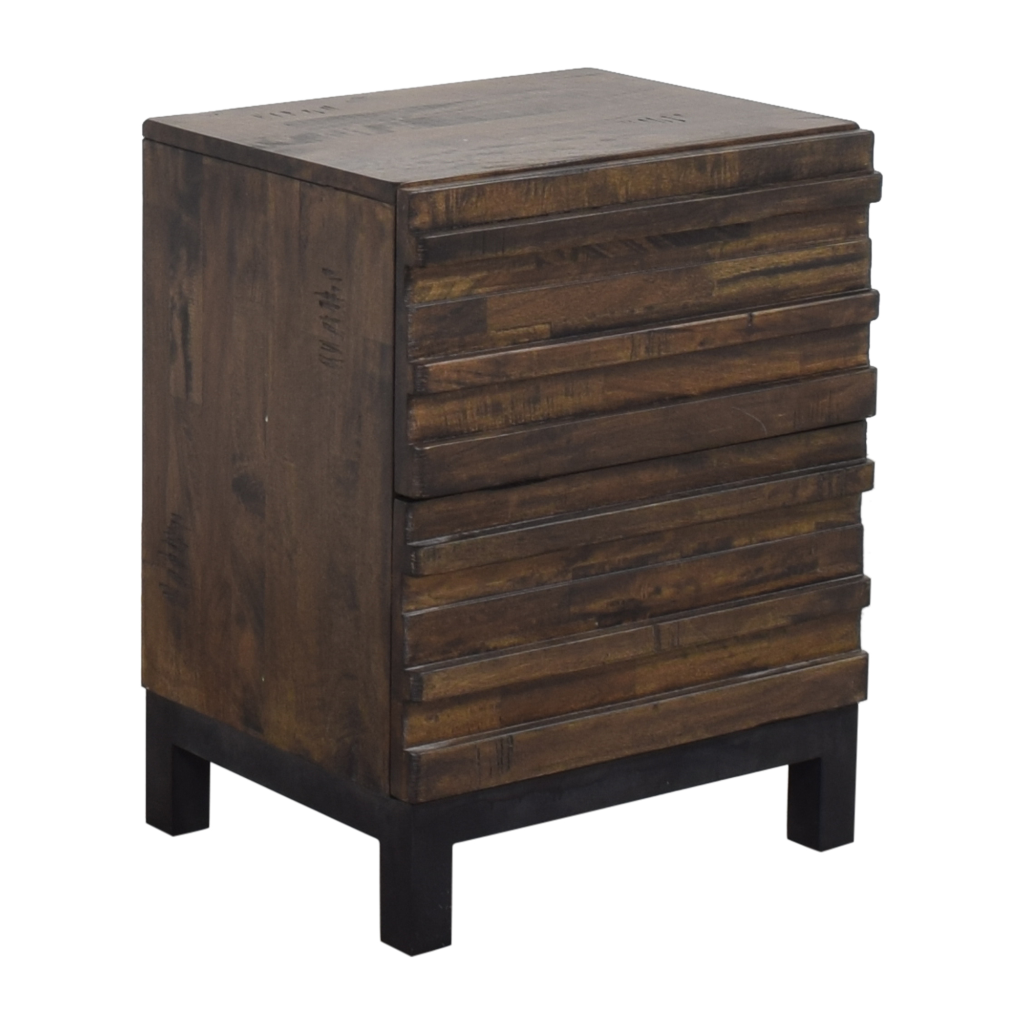 shop Raymour & Flanigan Two Drawer Nightstand Raymour & Flanigan Tables
