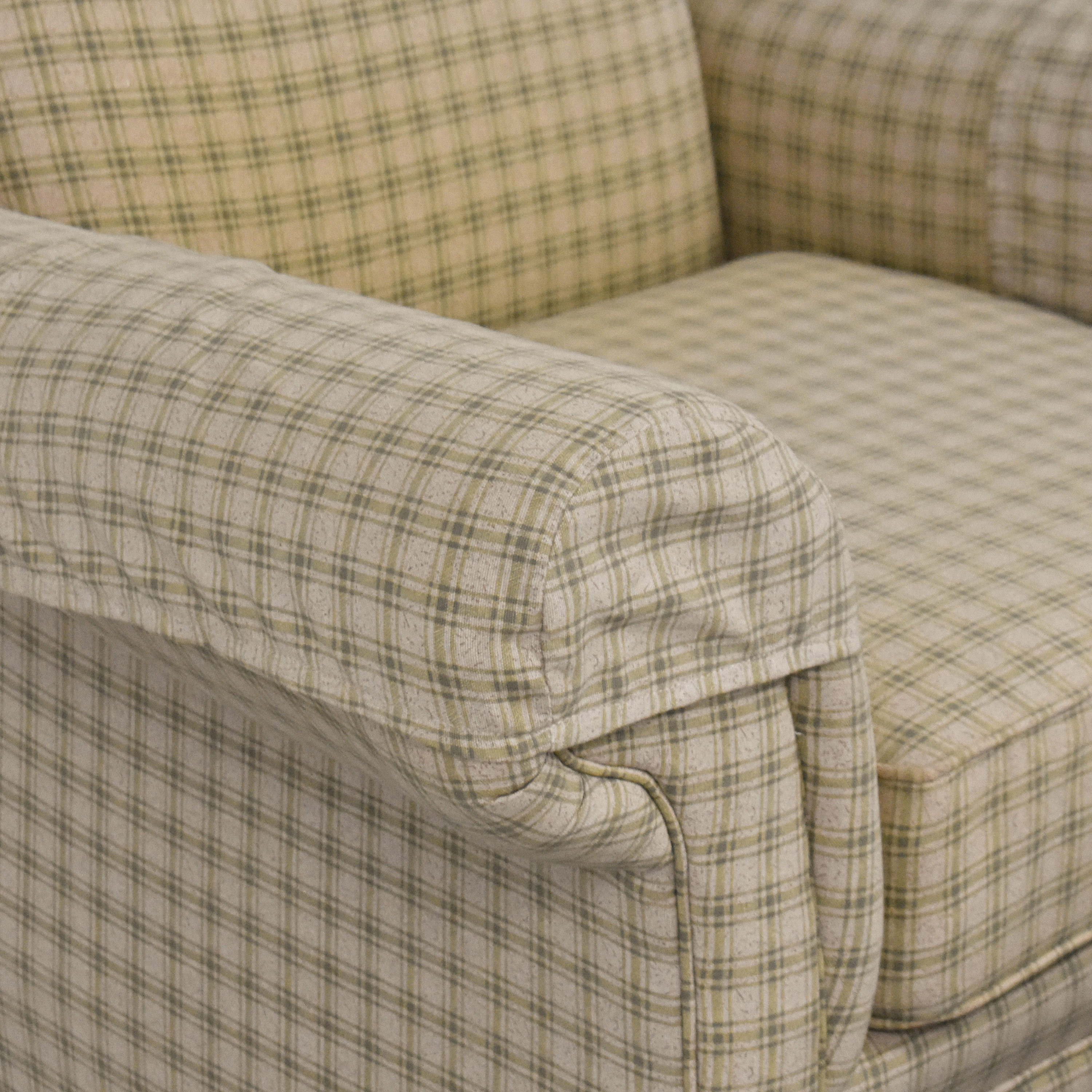 buy Roll Arm Chair with Ottoman