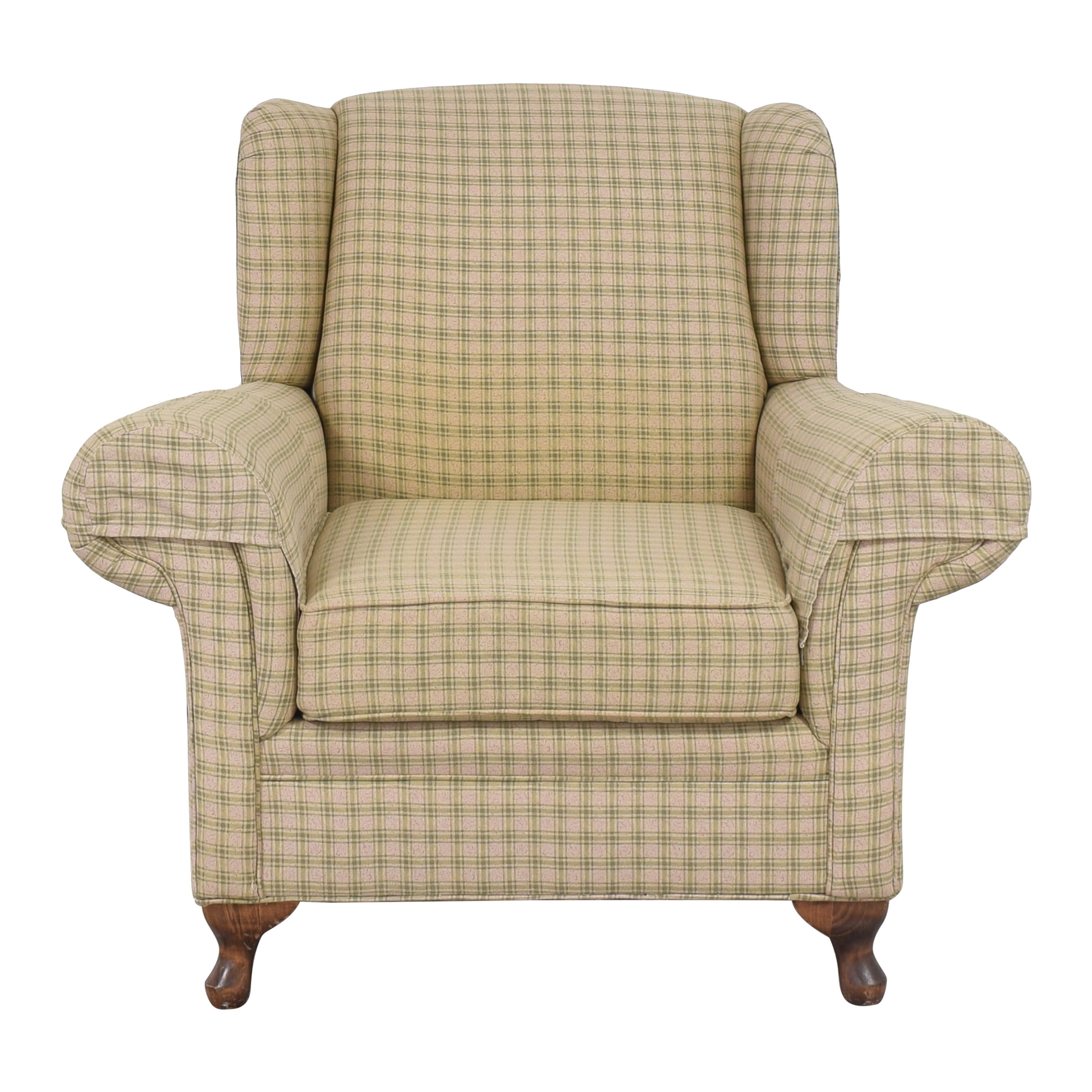 Roll Arm Chair with Ottoman sale