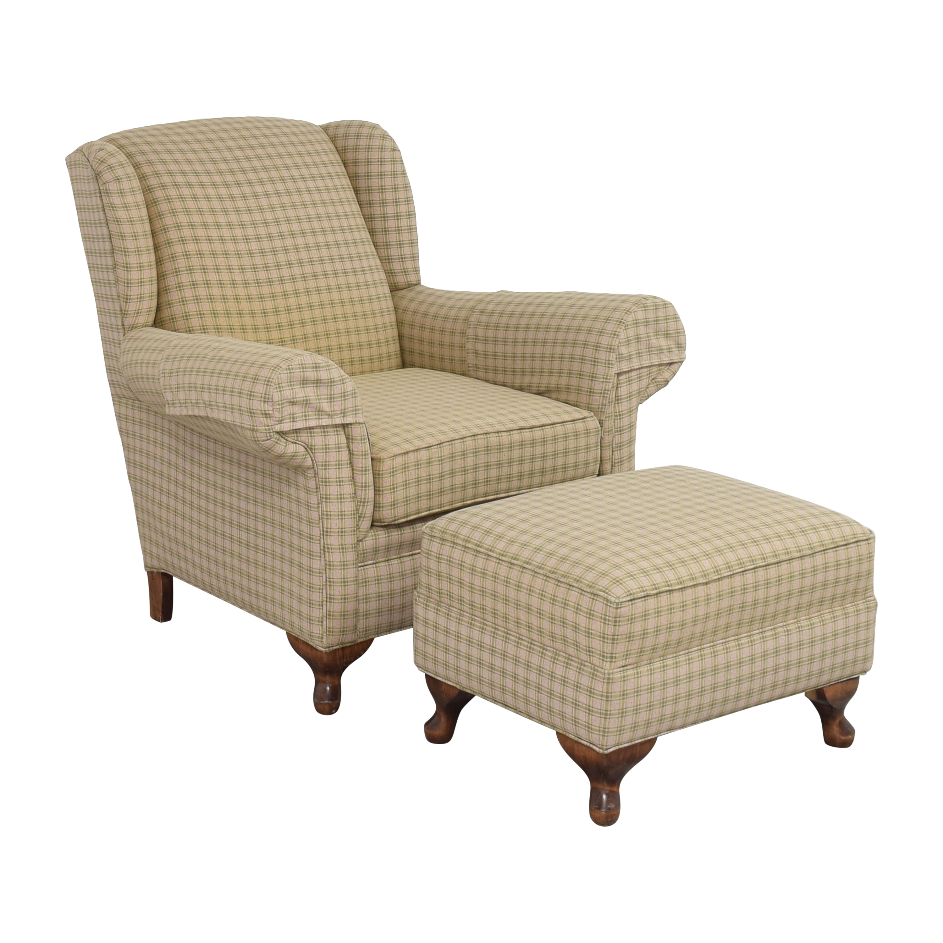Roll Arm Chair with Ottoman / Chairs
