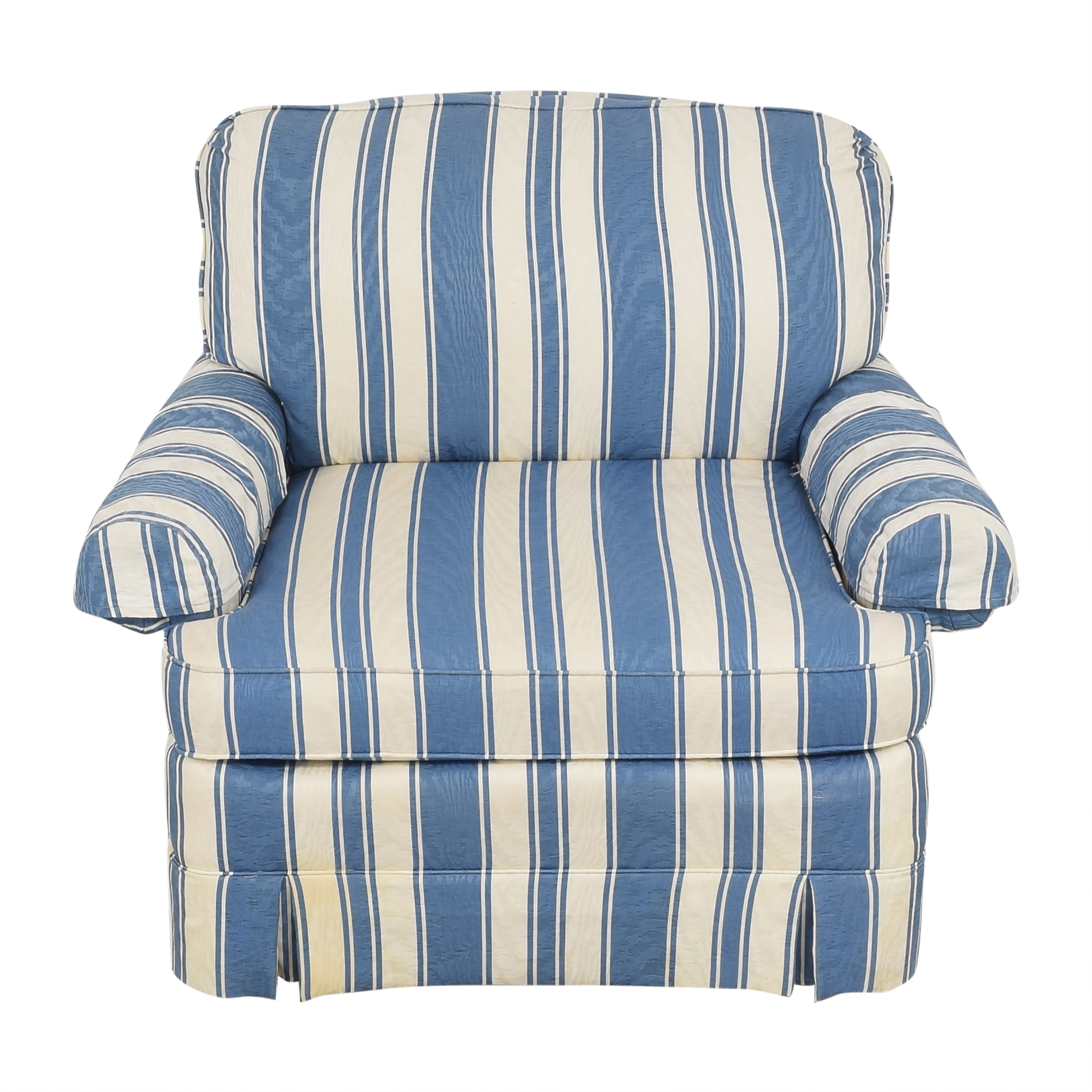 shop Clayton Marcus Striped Accent Chair Clayton Marcus Accent Chairs