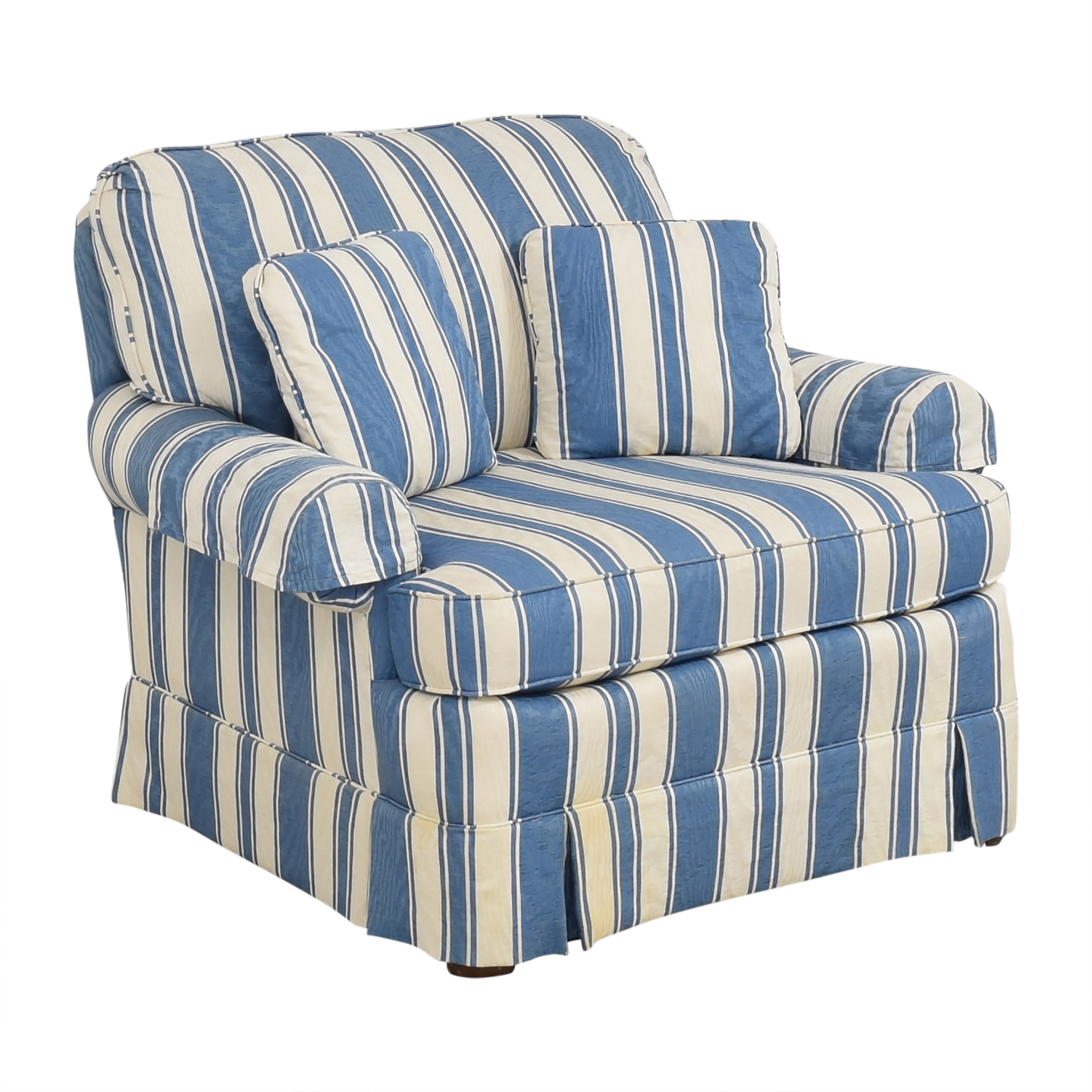 Clayton Marcus Clayton Marcus Striped Accent Chair ma
