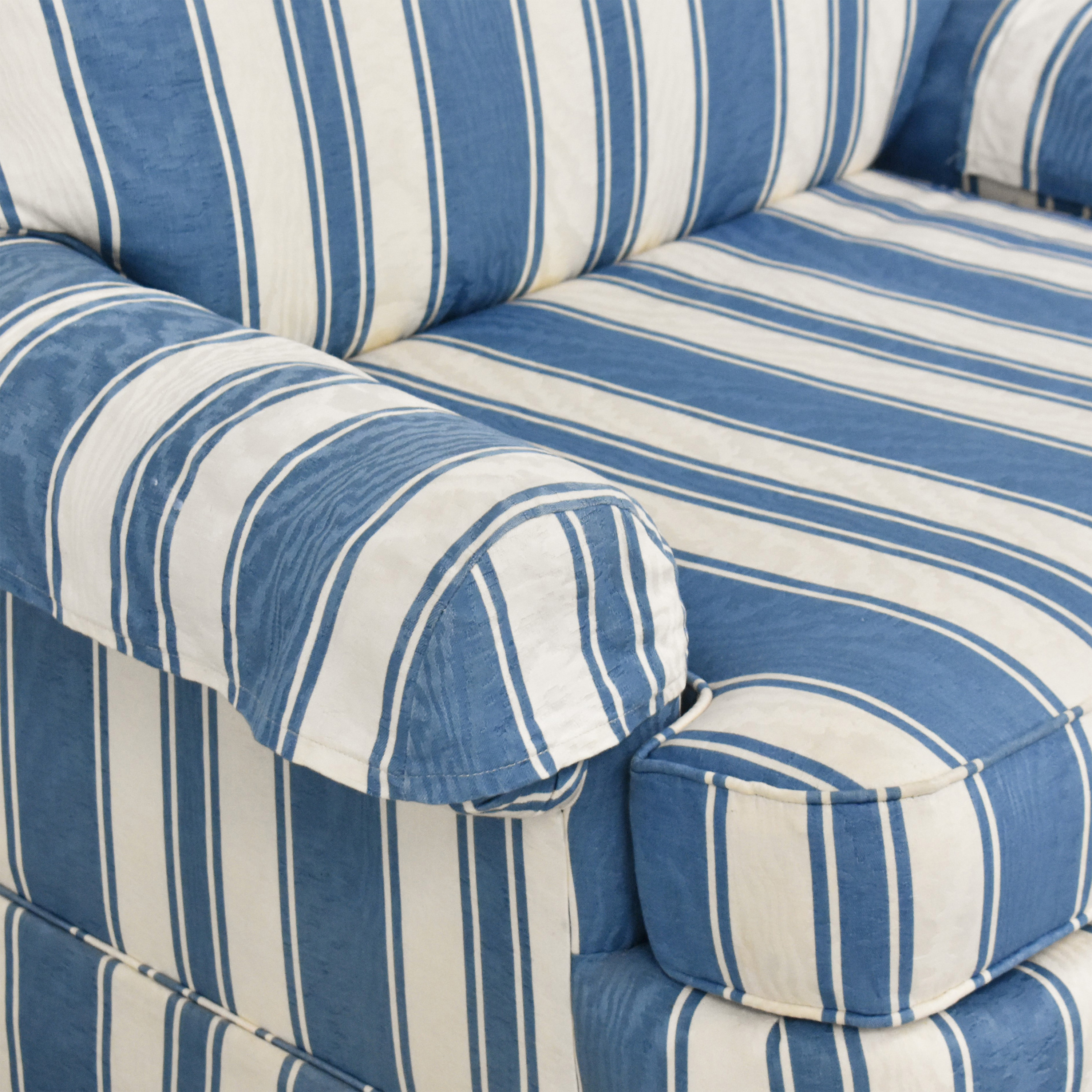 Clayton Marcus Clayton Marcus Striped Accent Chair Accent Chairs
