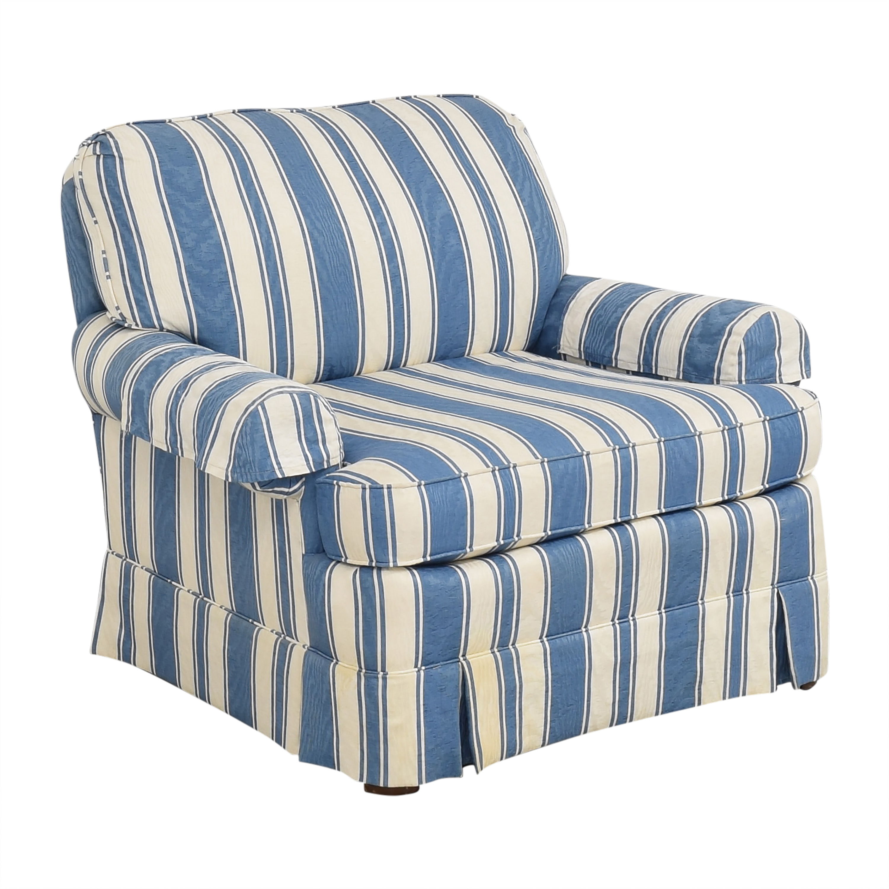 Clayton Marcus Clayton Marcus Striped Accent Chair for sale