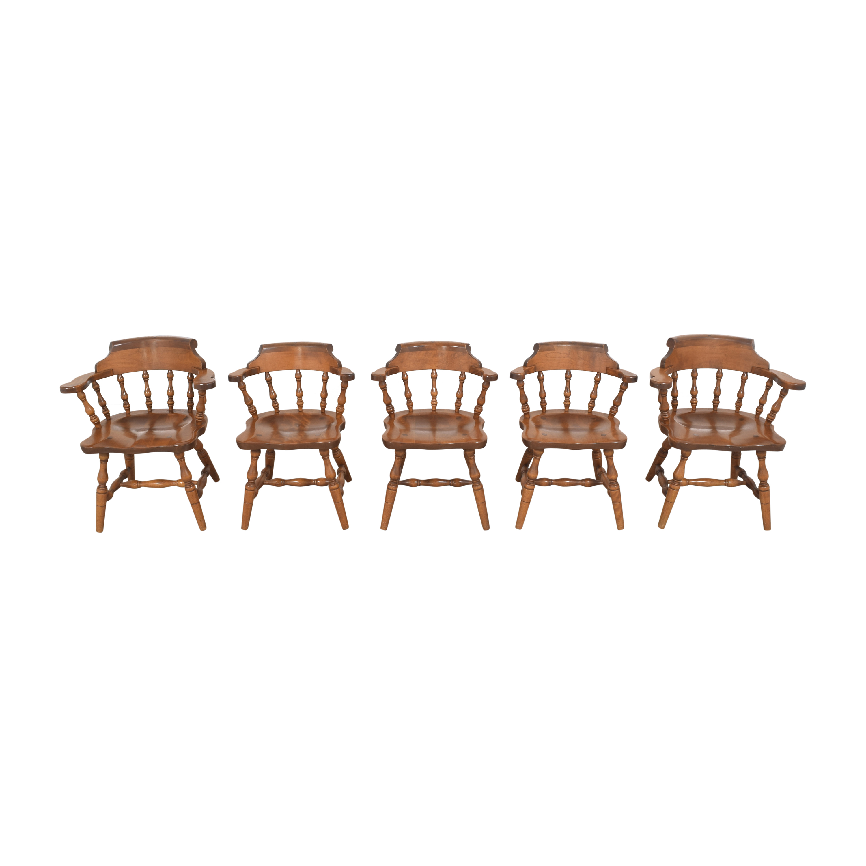 S. Bent & Bros S. Bent & Bros Colonial Windsor Captain's Chairs used