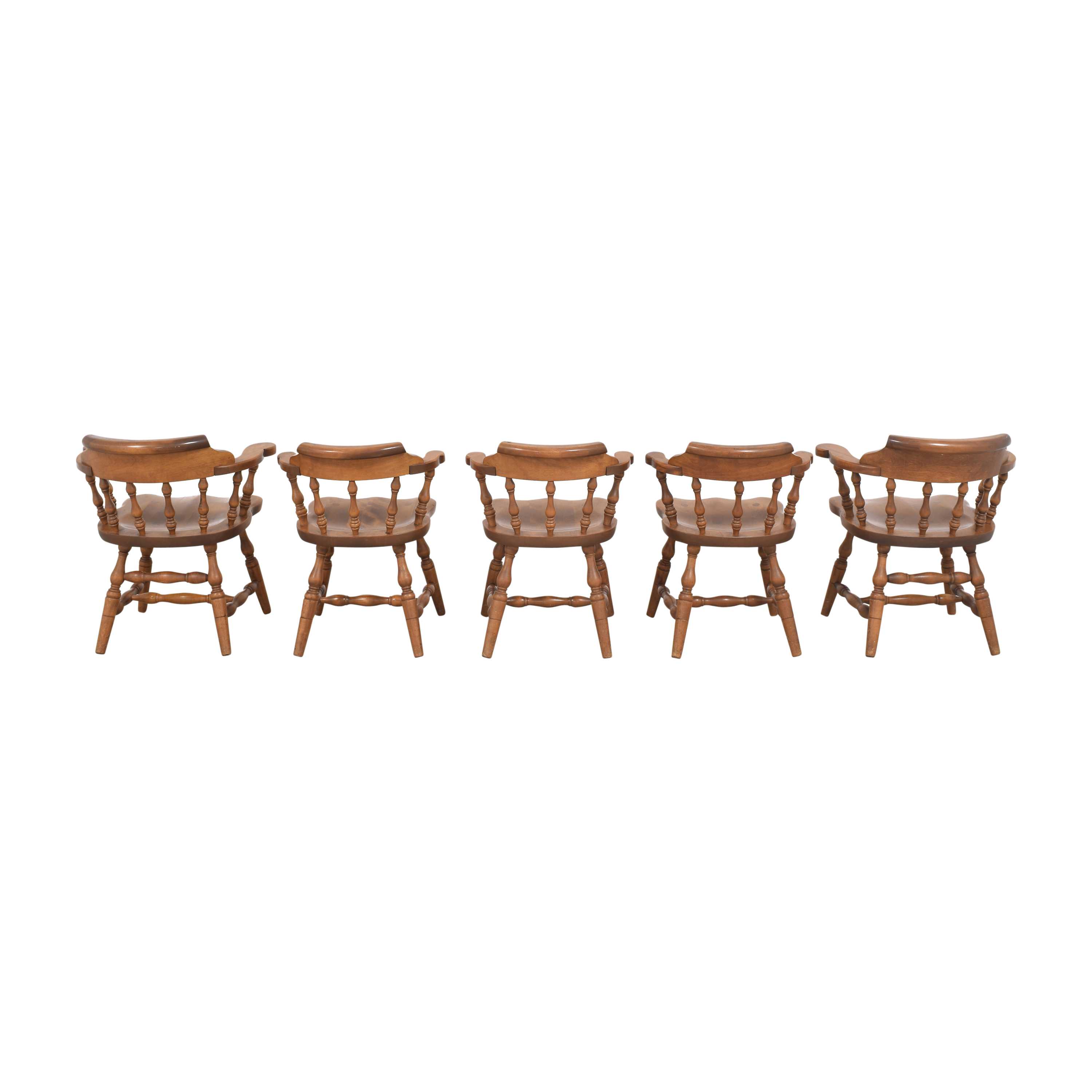 S. Bent & Bros Colonial Windsor Captain's Chairs sale
