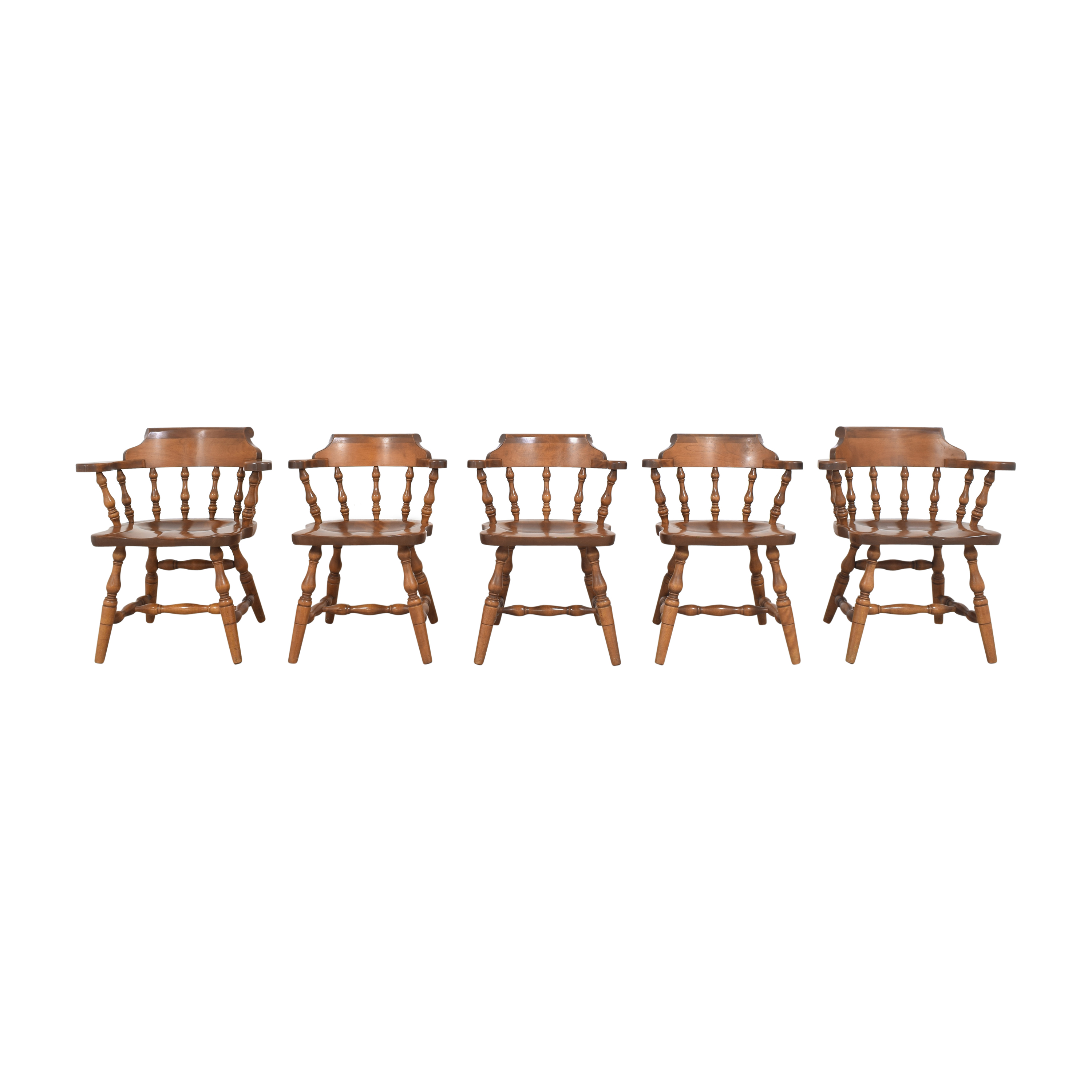 S. Bent & Bros S. Bent & Bros Colonial Windsor Captain's Chairs nyc