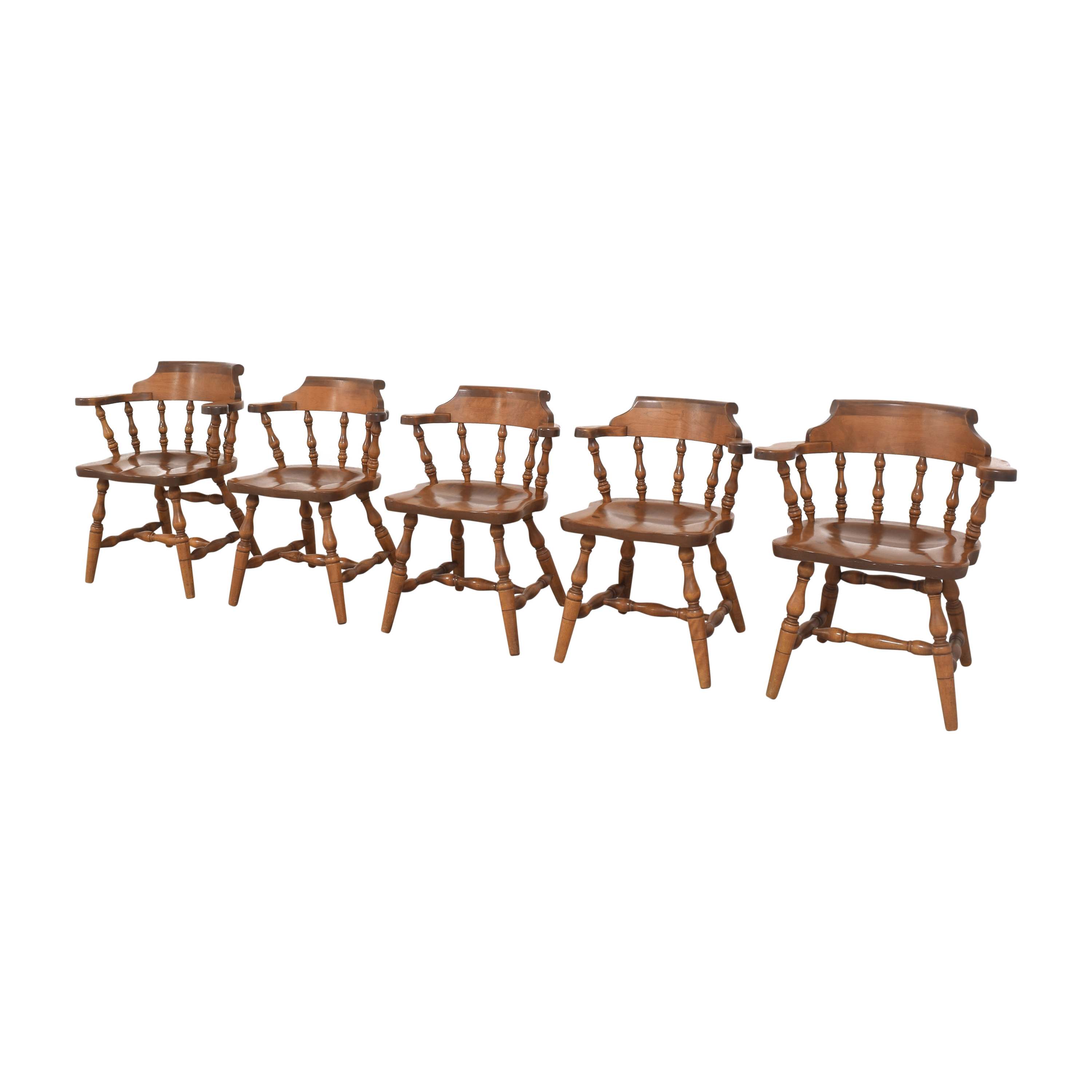 S. Bent & Bros Colonial Windsor Captain's Chairs / Chairs