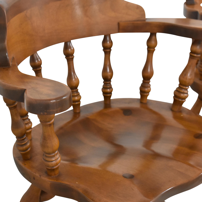 buy S. Bent & Bros Colonial Windsor Captain's Chairs S. Bent & Bros