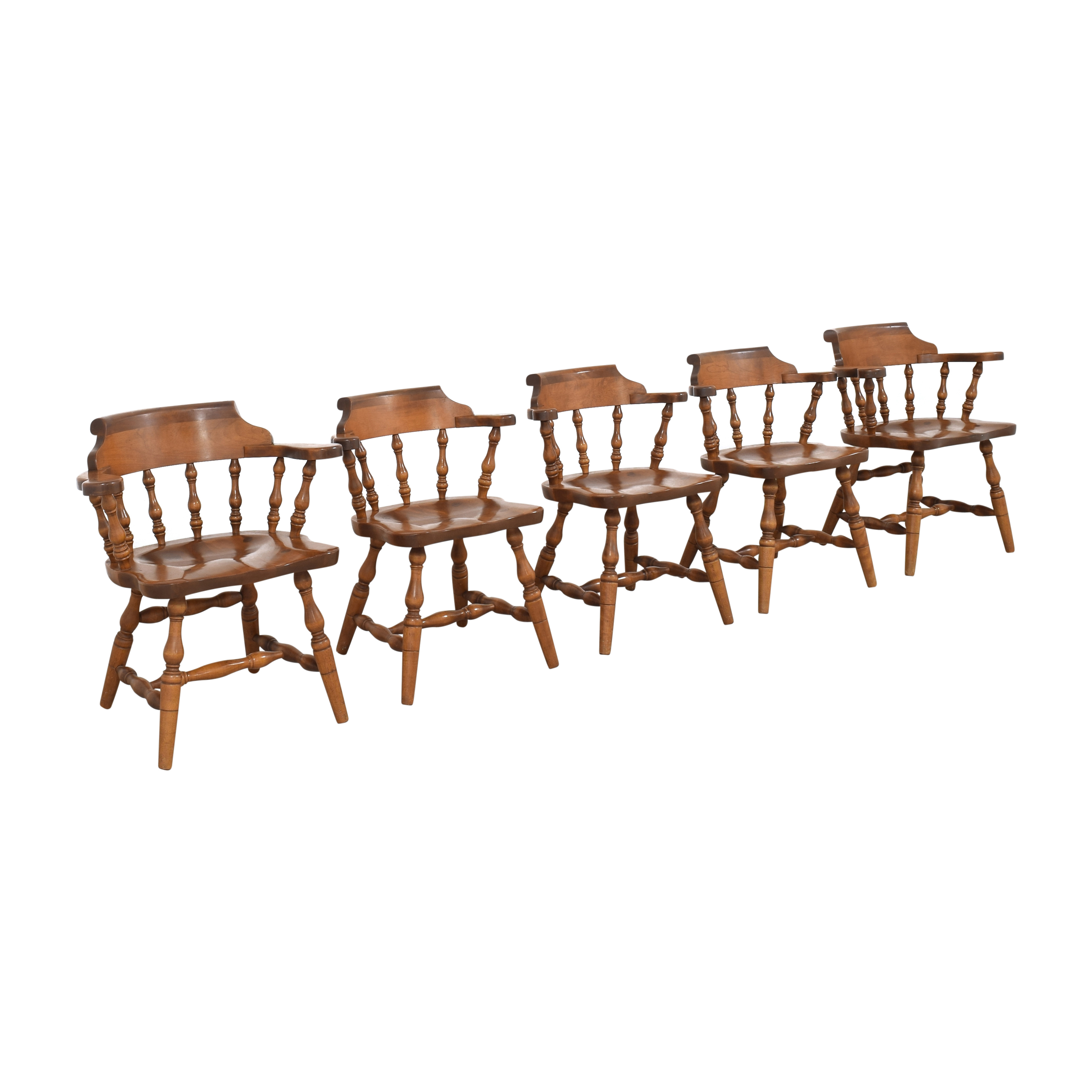 S. Bent & Bros S. Bent & Bros Colonial Windsor Captain's Chairs Chairs