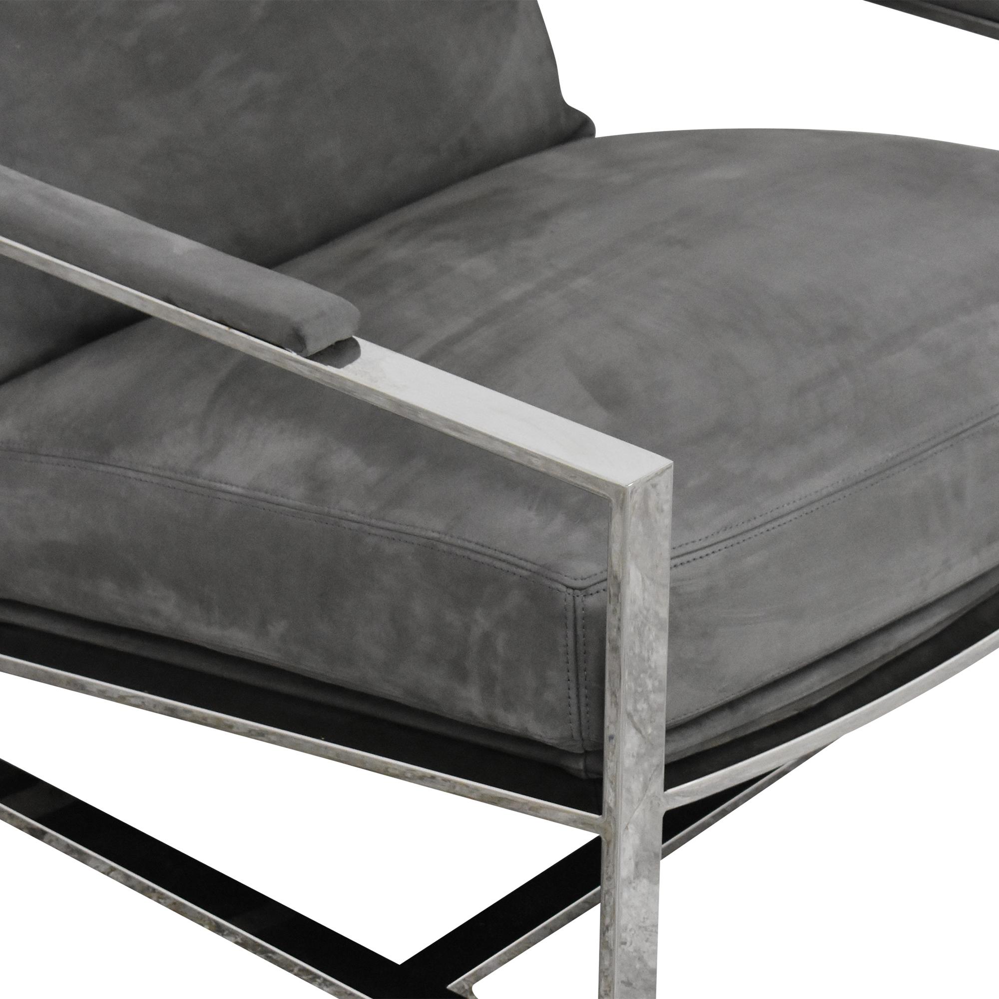 Restoration Hardware Milo Baughman Model #3418 Chair by Thayer Coggin Restoration Hardware