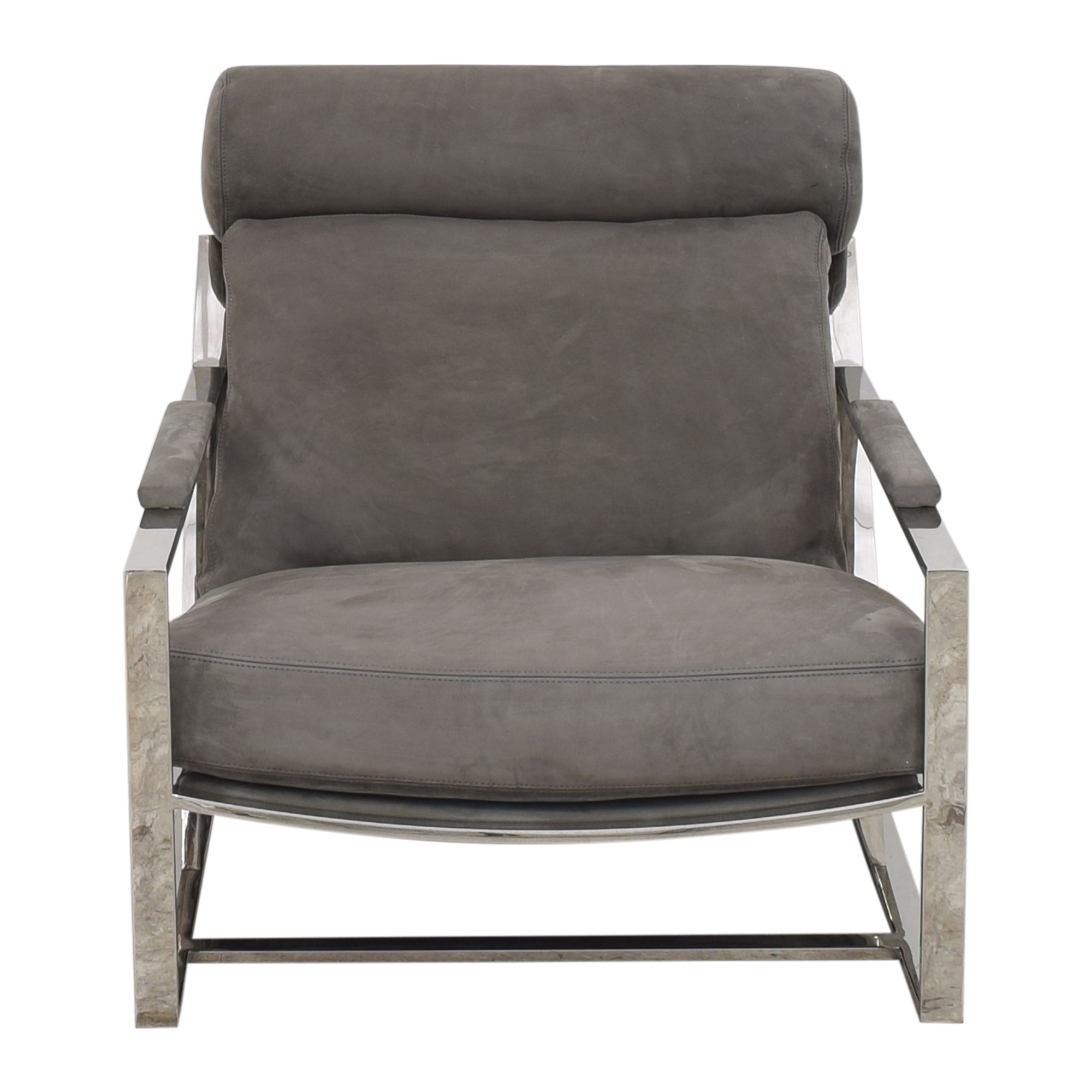 Restoration Hardware Restoration Hardware Milo Baughman Model #3418 Chair by Thayer Coggin dimensions