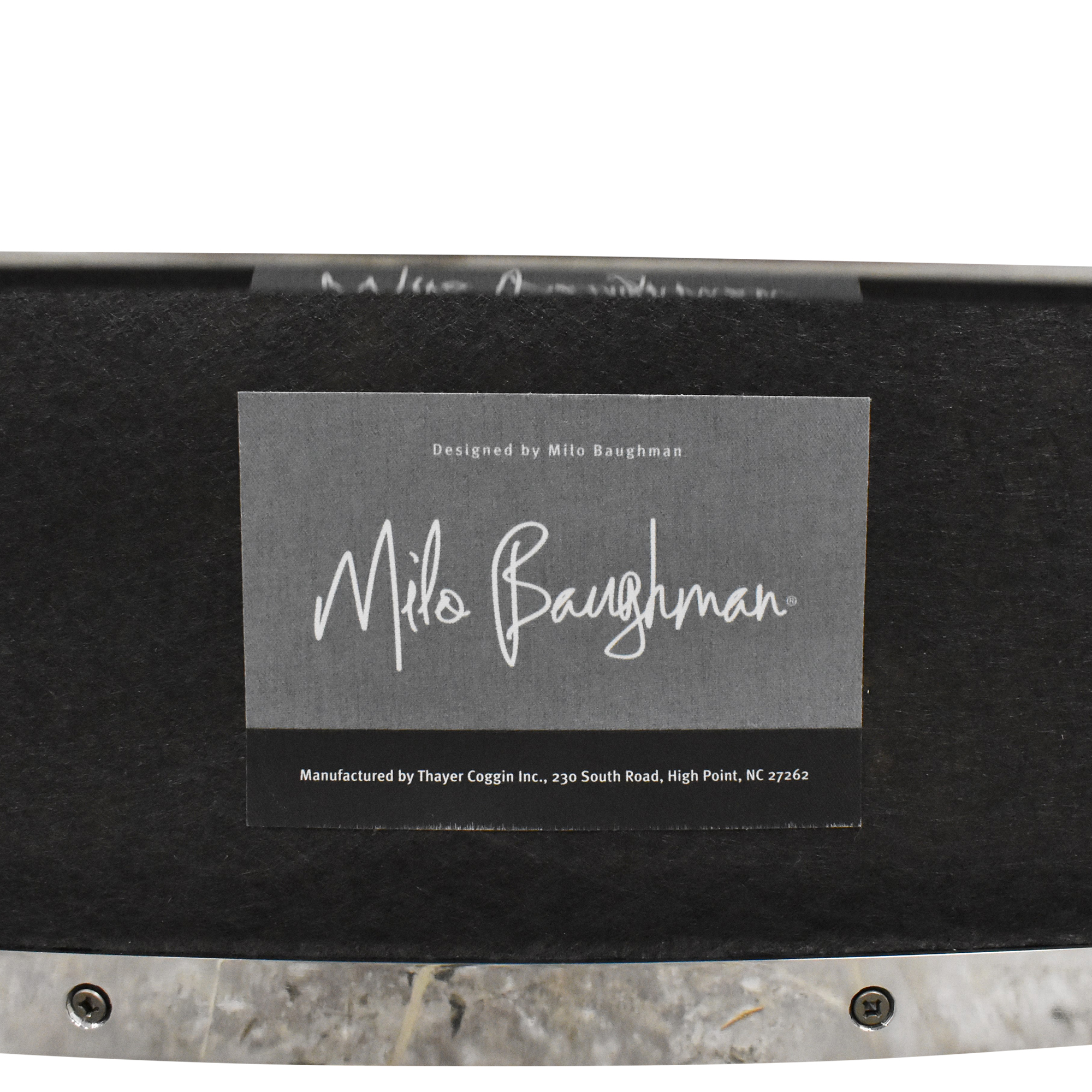 Restoration Hardware Restoration Hardware Milo Baughman Model #3418 Chair by Thayer Coggin pa