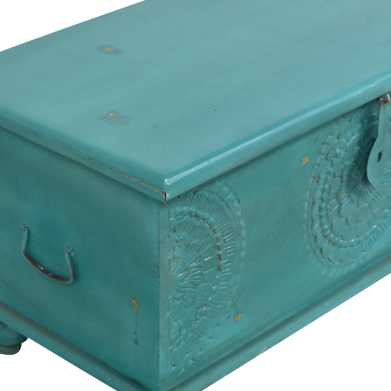 Overstock Porter Designs Leela Coffee Table Trunk / Storage