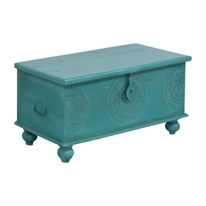 Overstock Overstock Porter Designs Leela Coffee Table Trunk blue