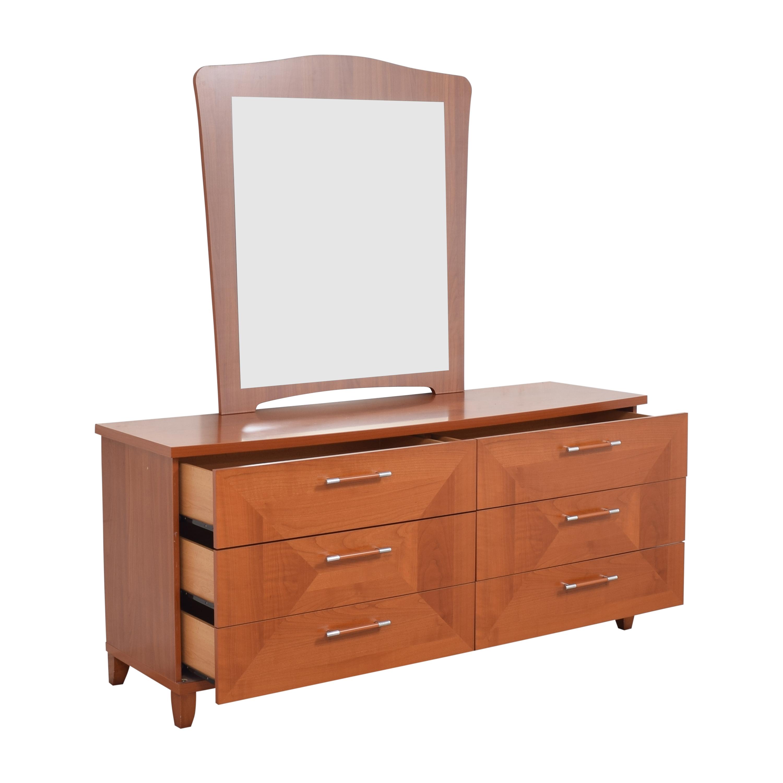 Alf Italia Alf Italia Double Dresser with Mirror Storage