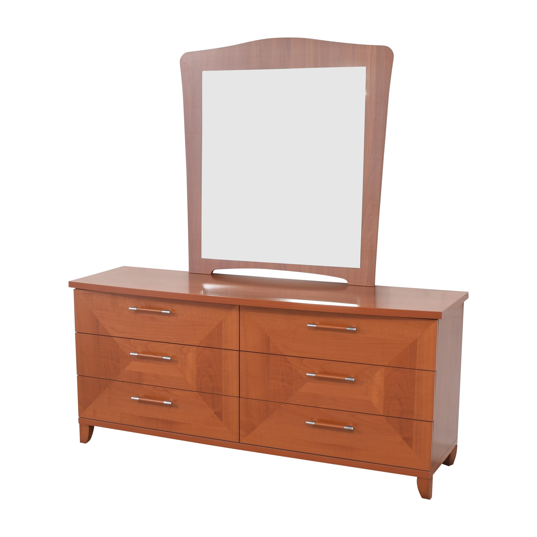 shop Alf Italia Double Dresser with Mirror Alf Italia Dressers