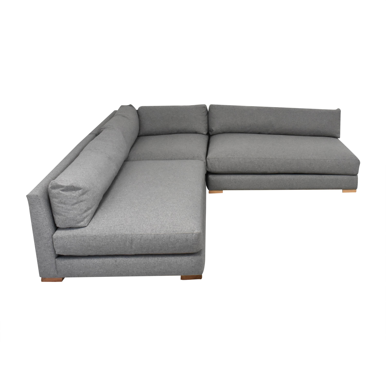 CB2 Piazza Three Piece Modular Double Apartment Sofa Sectional / Sofas