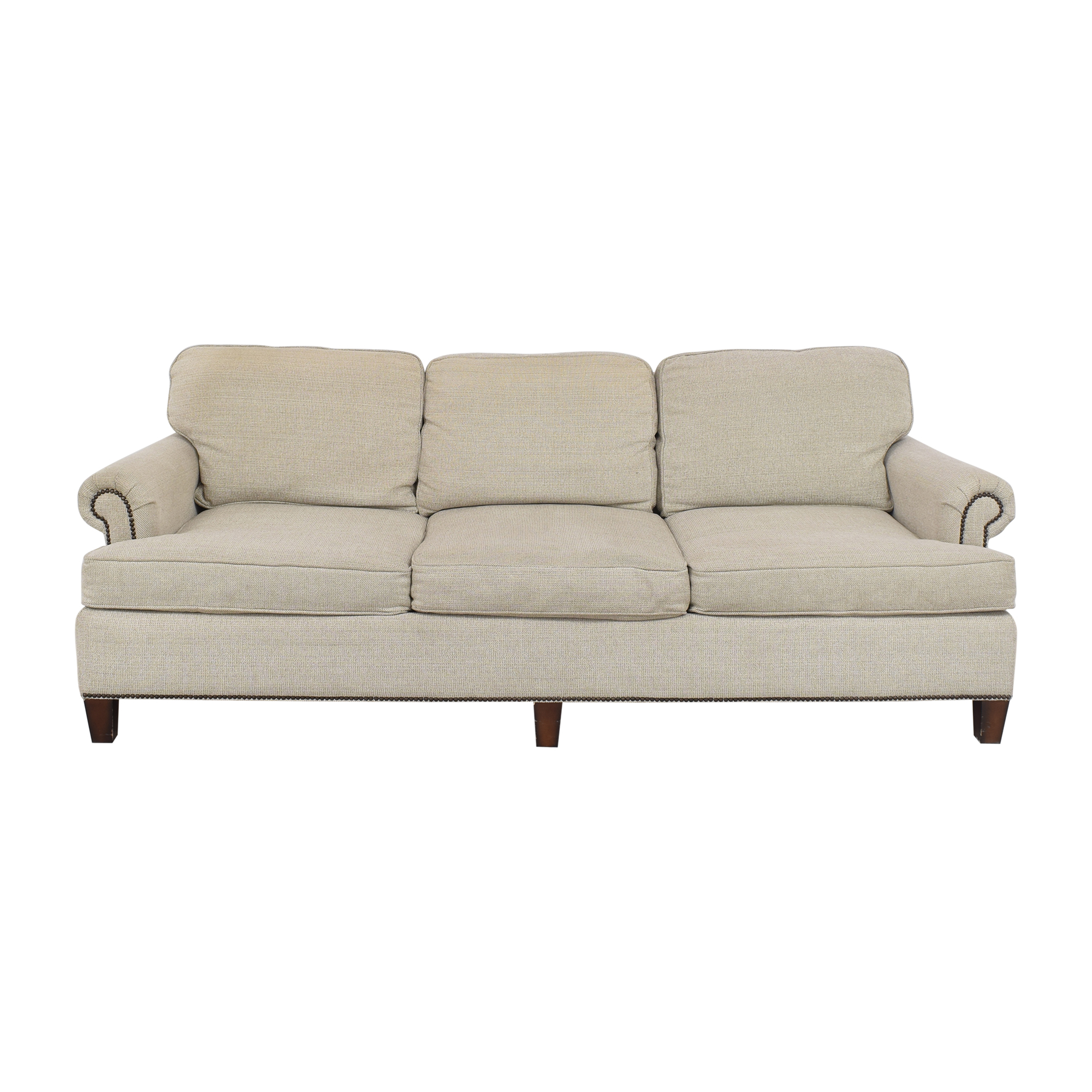 Bernhardt Bernhardt Roll Arm Nailhead Sofa for sale