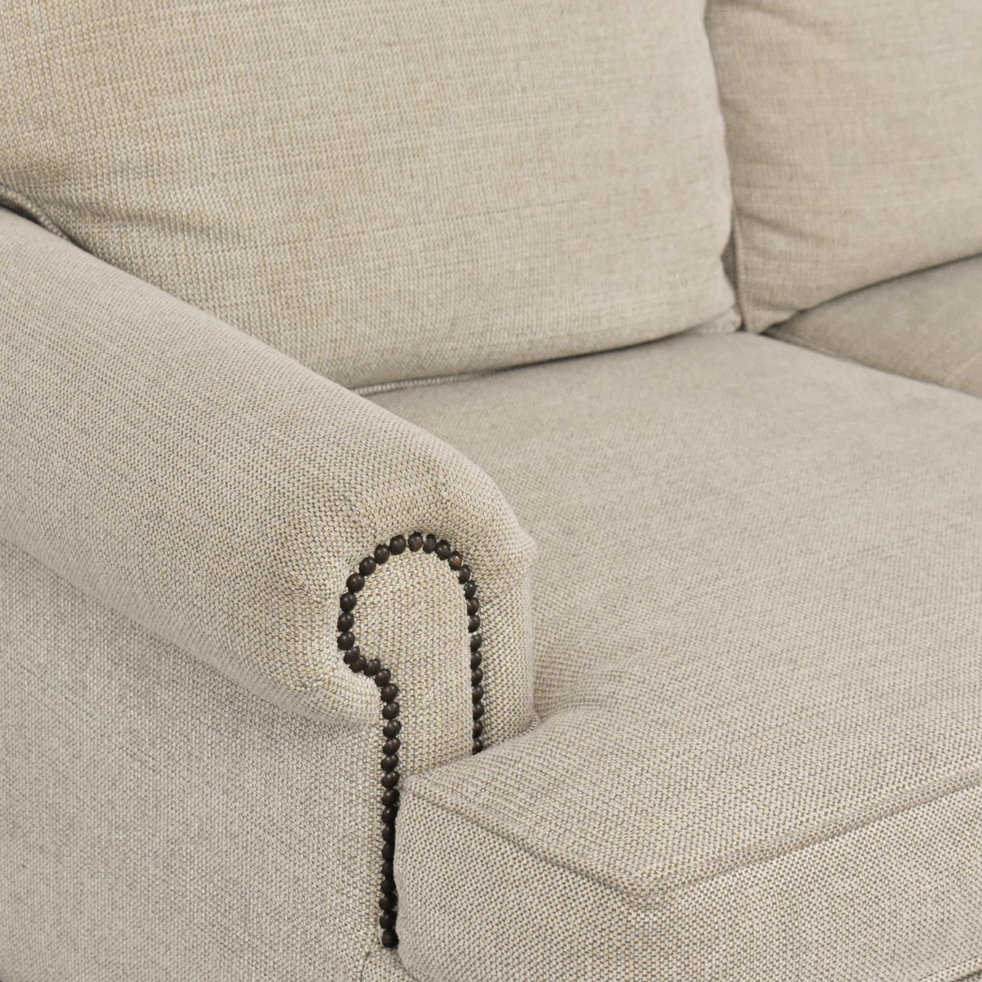 Bernhardt Bernhardt Roll Arm Nailhead Sofa nj