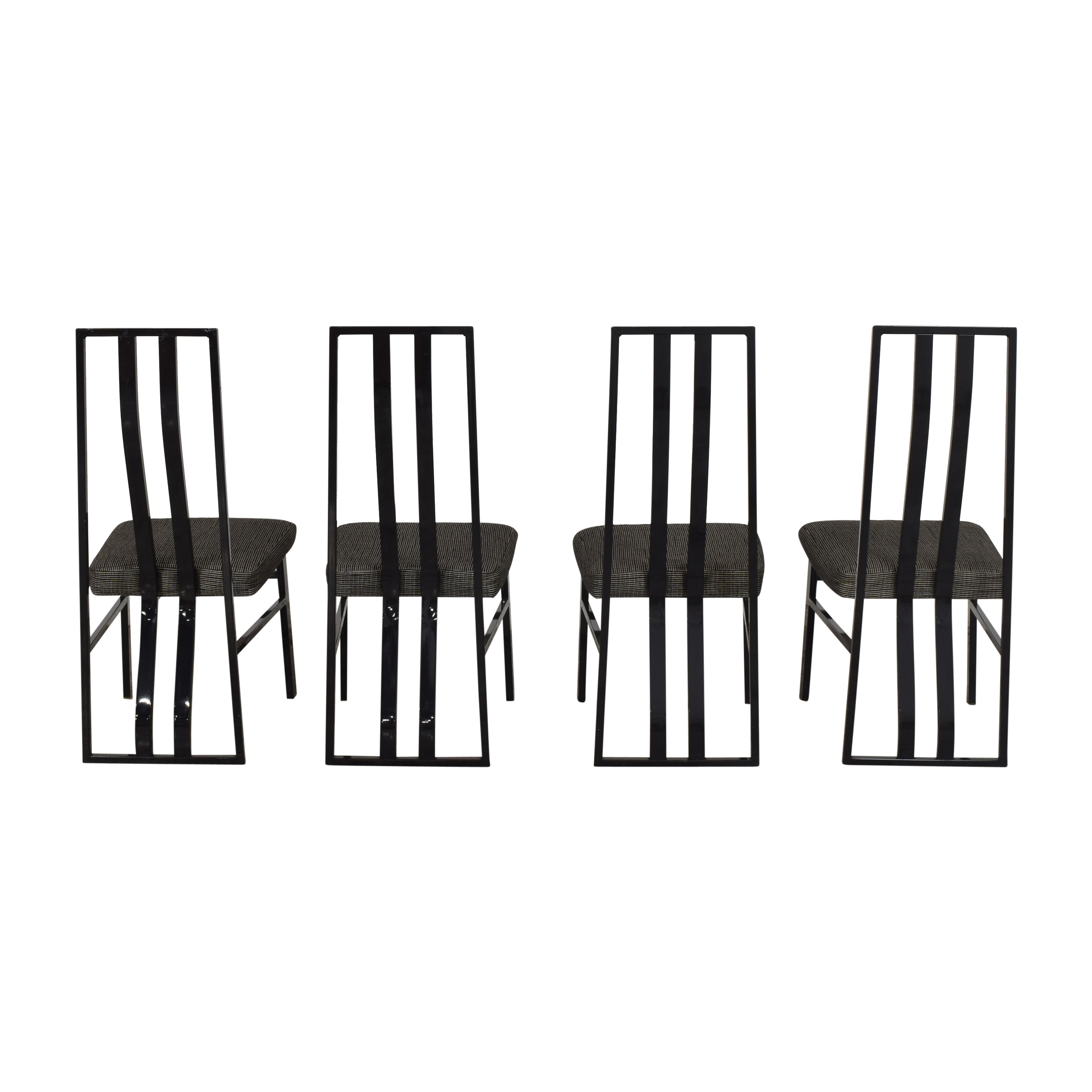 Cal Style Furniture Manufacturing Company Cal-Style Mfg Co Modern High Back Dining Chairs black and gray