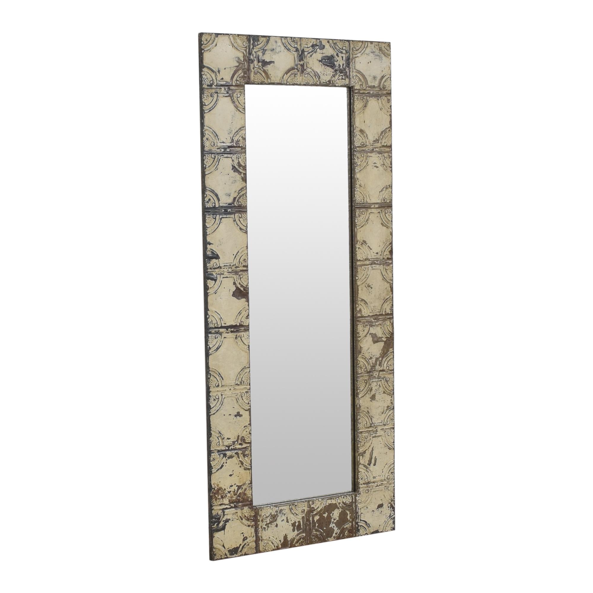 Vintage Style Floor Mirror Decor