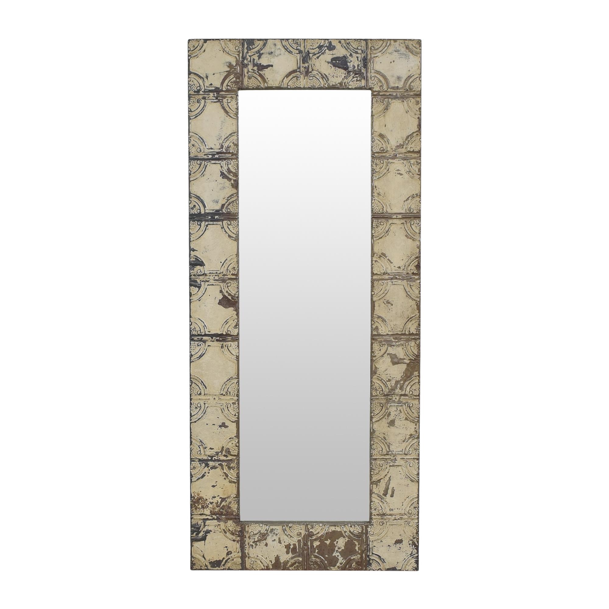 Vintage Style Floor Mirror off white